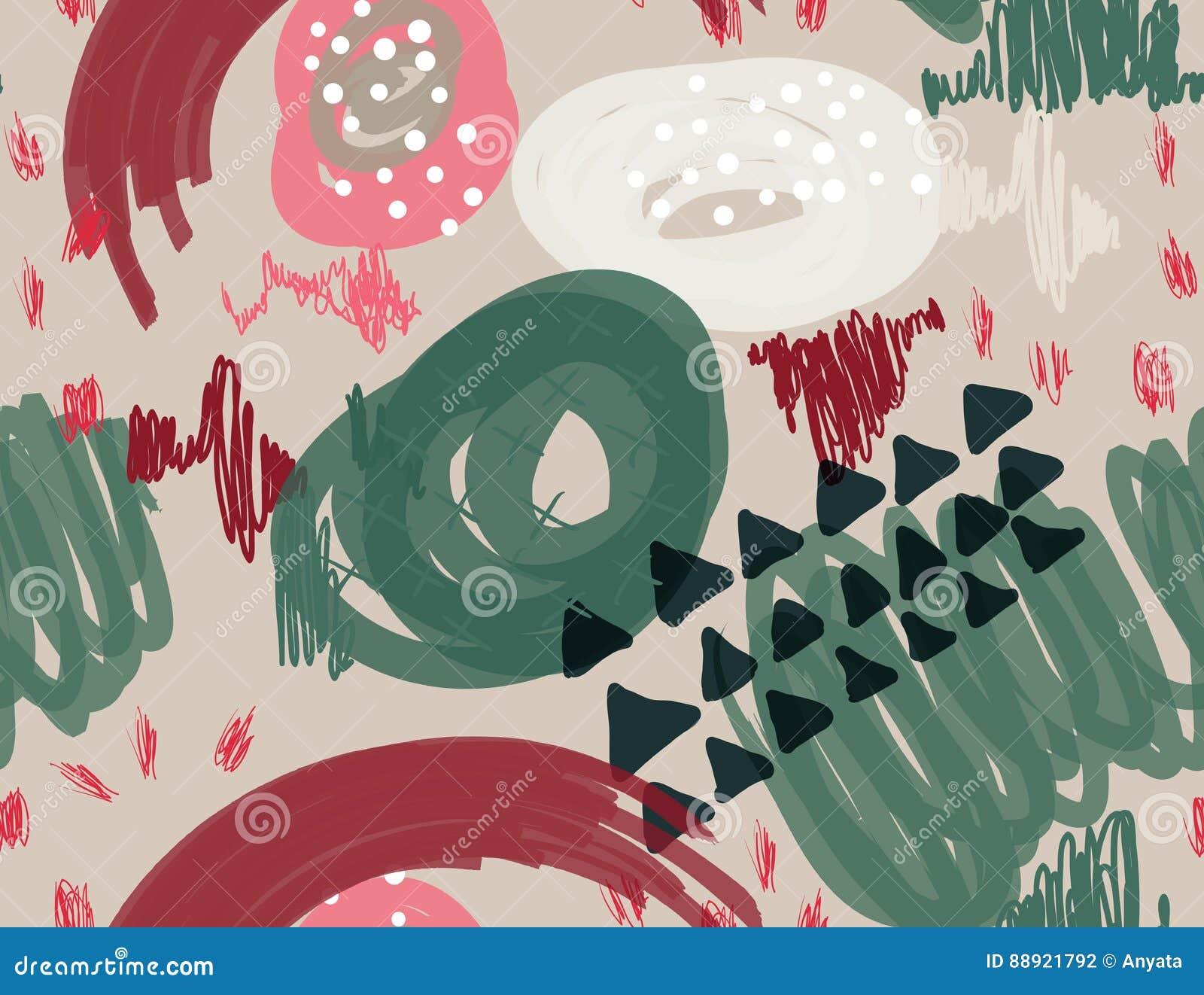 El marcador abstracto garabatea los puntos y los triángulos grises claros