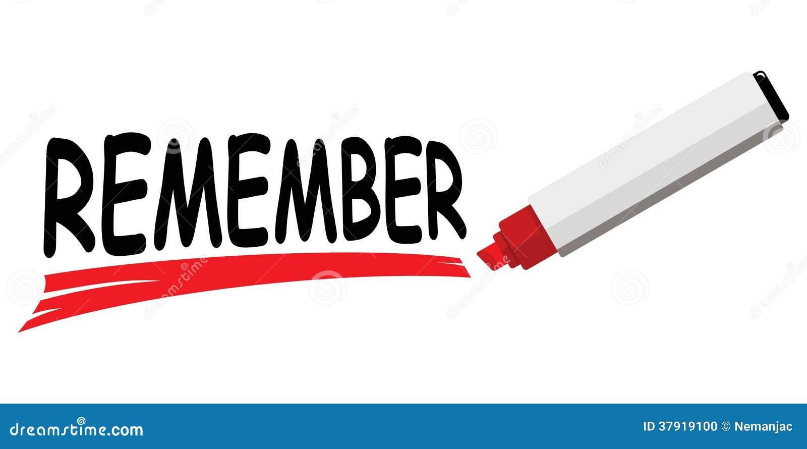 Remember Clipart El marcador rojo que subraya