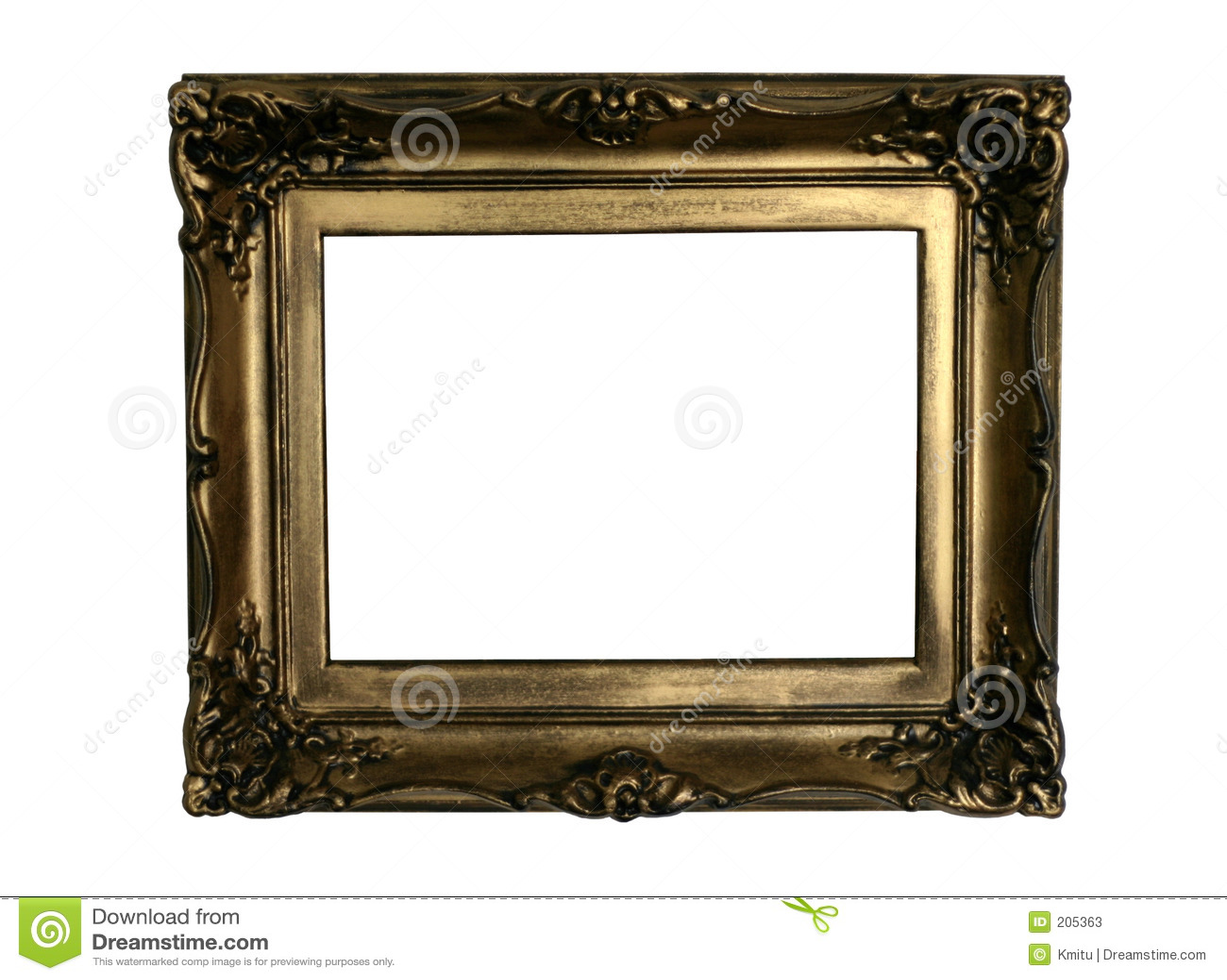 El Marco De Oro Antiguo Alista Para Completar Imagen De