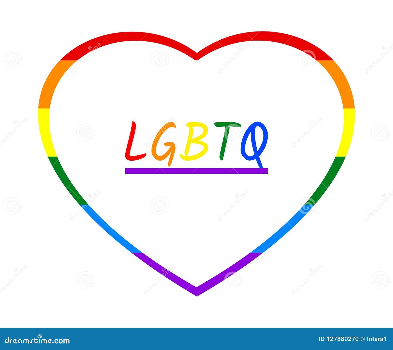 El marco y el arco iris coloridos LGBTQ del corazón del arco iris mandan un SMS, aislado en el fondo transparente blanco