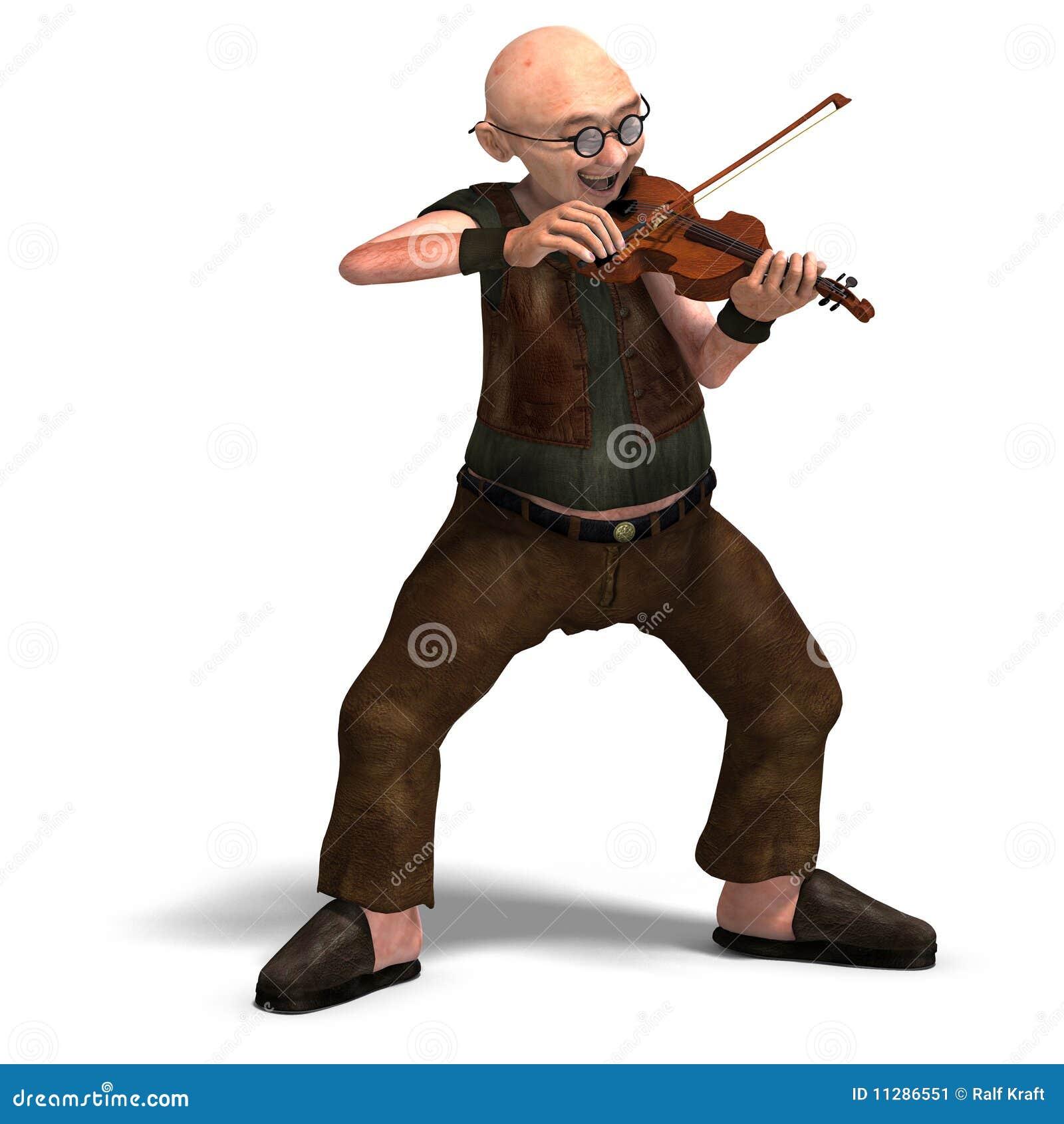 El mayor divertido toca el violín