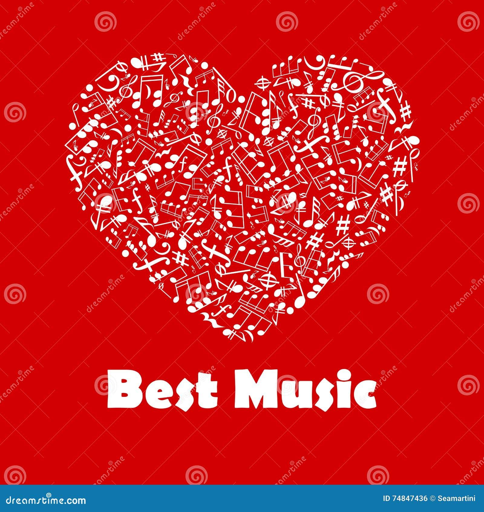 El Mejor Cartel De La Música Con Las Notas Musicales De La Forma Del