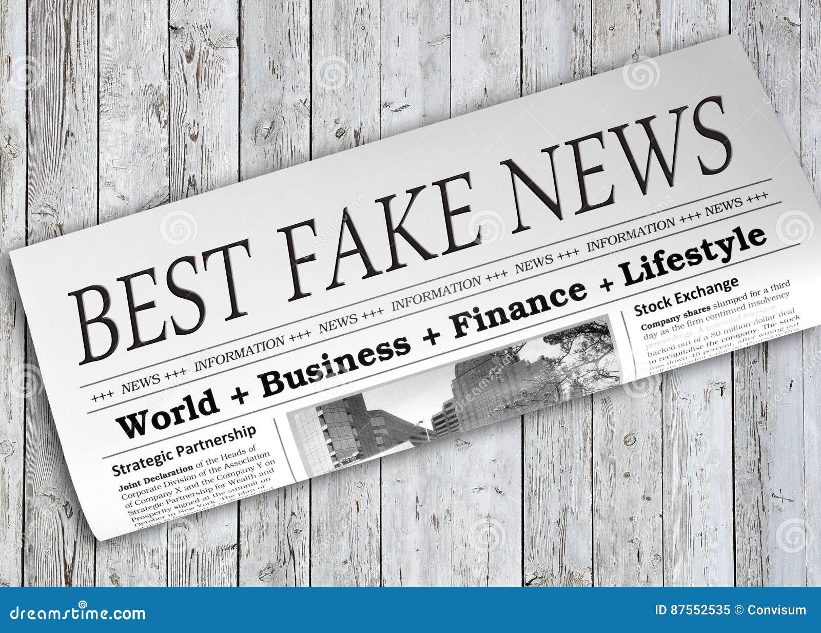 El mejor periódico falso de las noticias