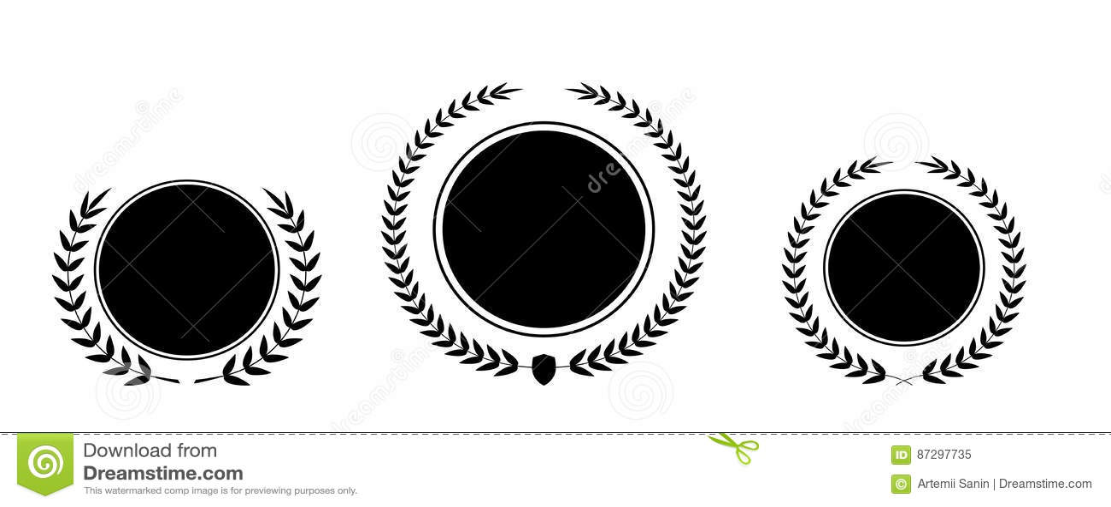 El mejor sistema de la guirnalda del laurel del premio del vector del premio Etiqueta del ganador, victoria del símbolo de la hoj