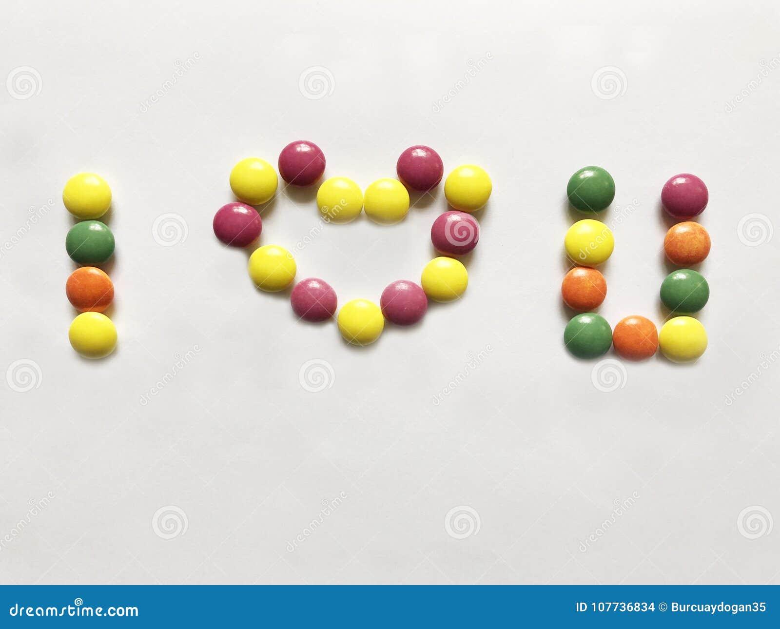 El mensaje que te quiero que se hace de dulces coloridos
