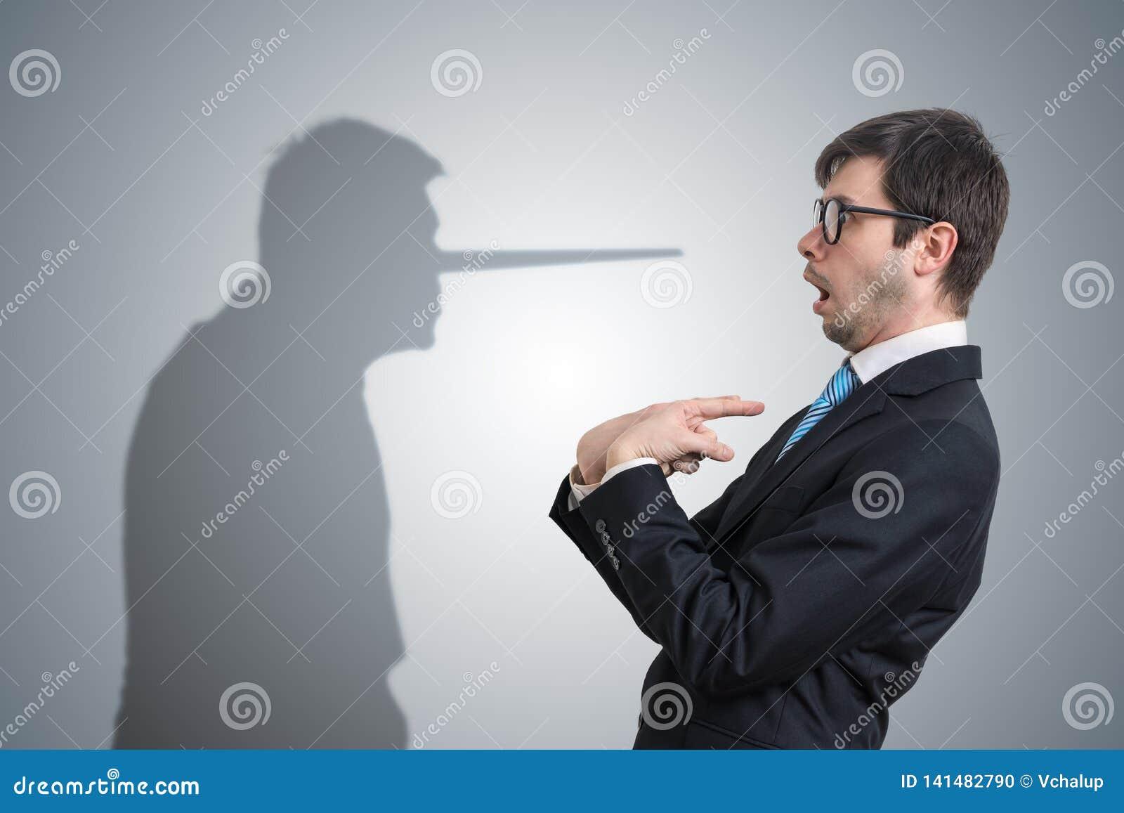 El mentiroso tiene sombra con la nariz larga Concepto de la conciencia