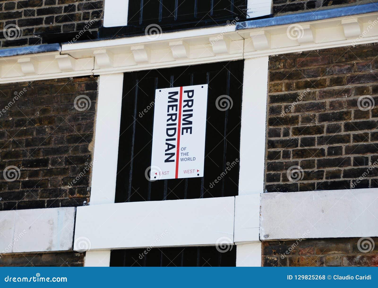 El meridiano primero de Greenwich