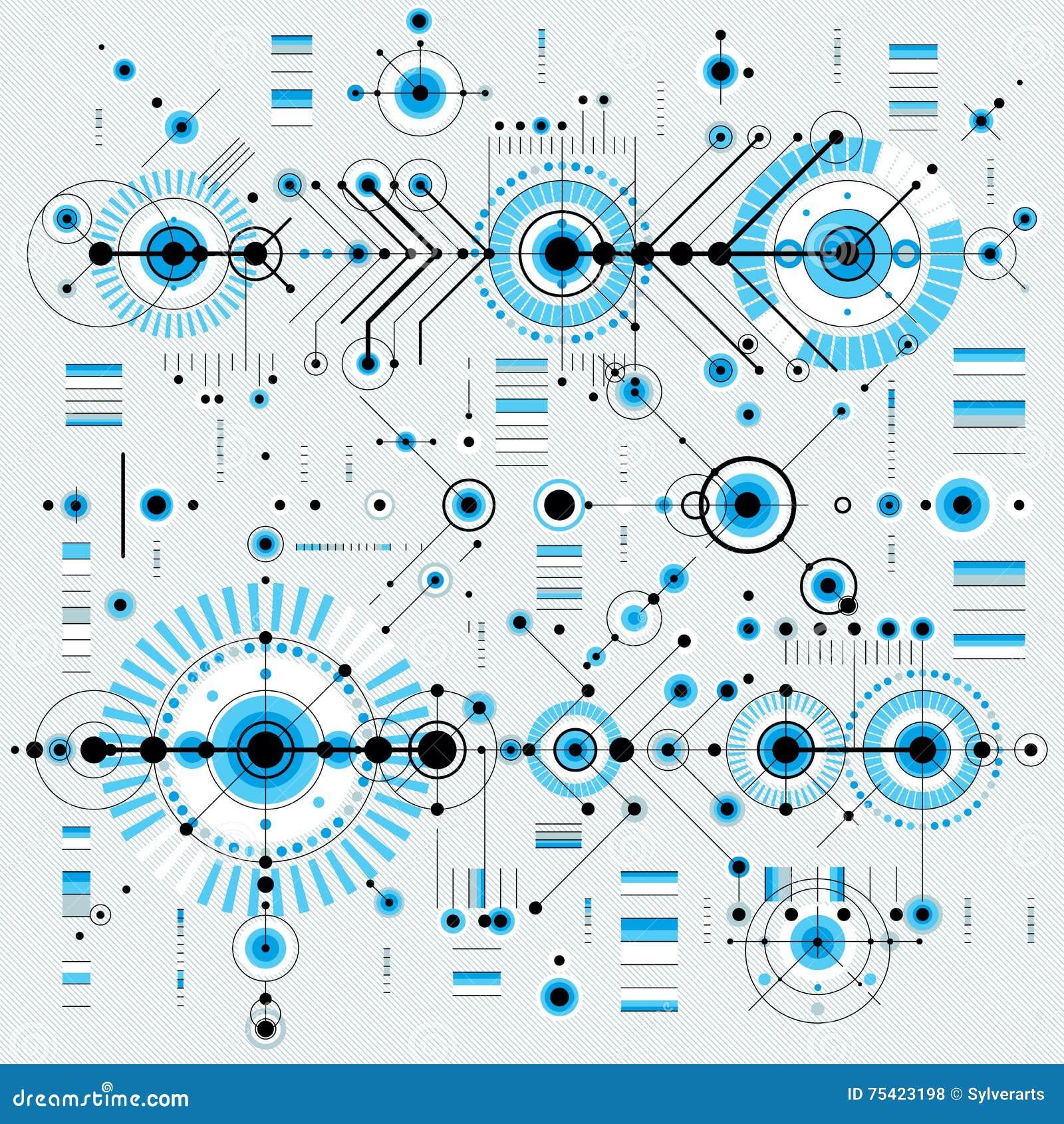 El modelo arquitectónico, vector el fondo digital con differen