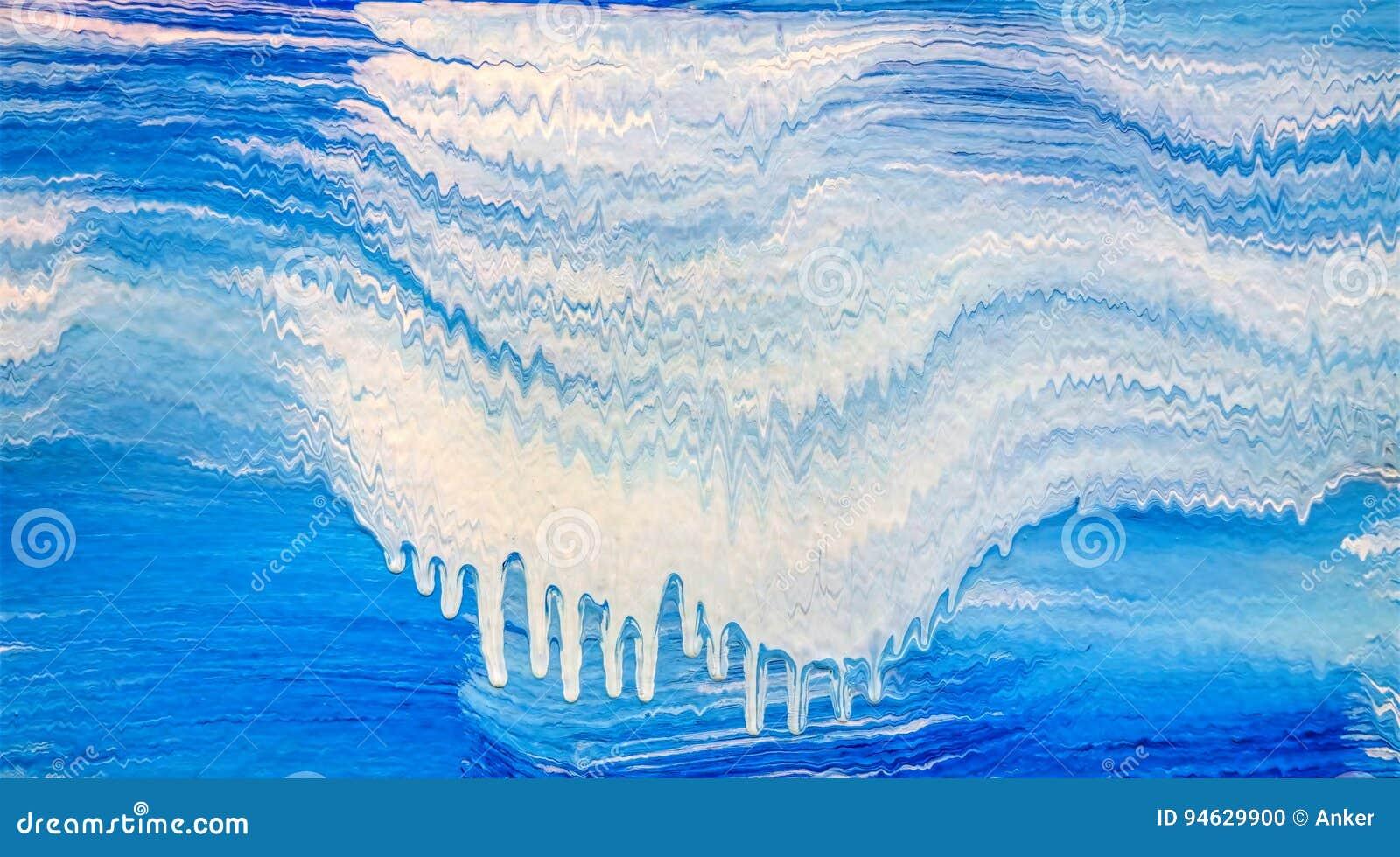 El modelo de acrílico de la raya con azul y blanco agita