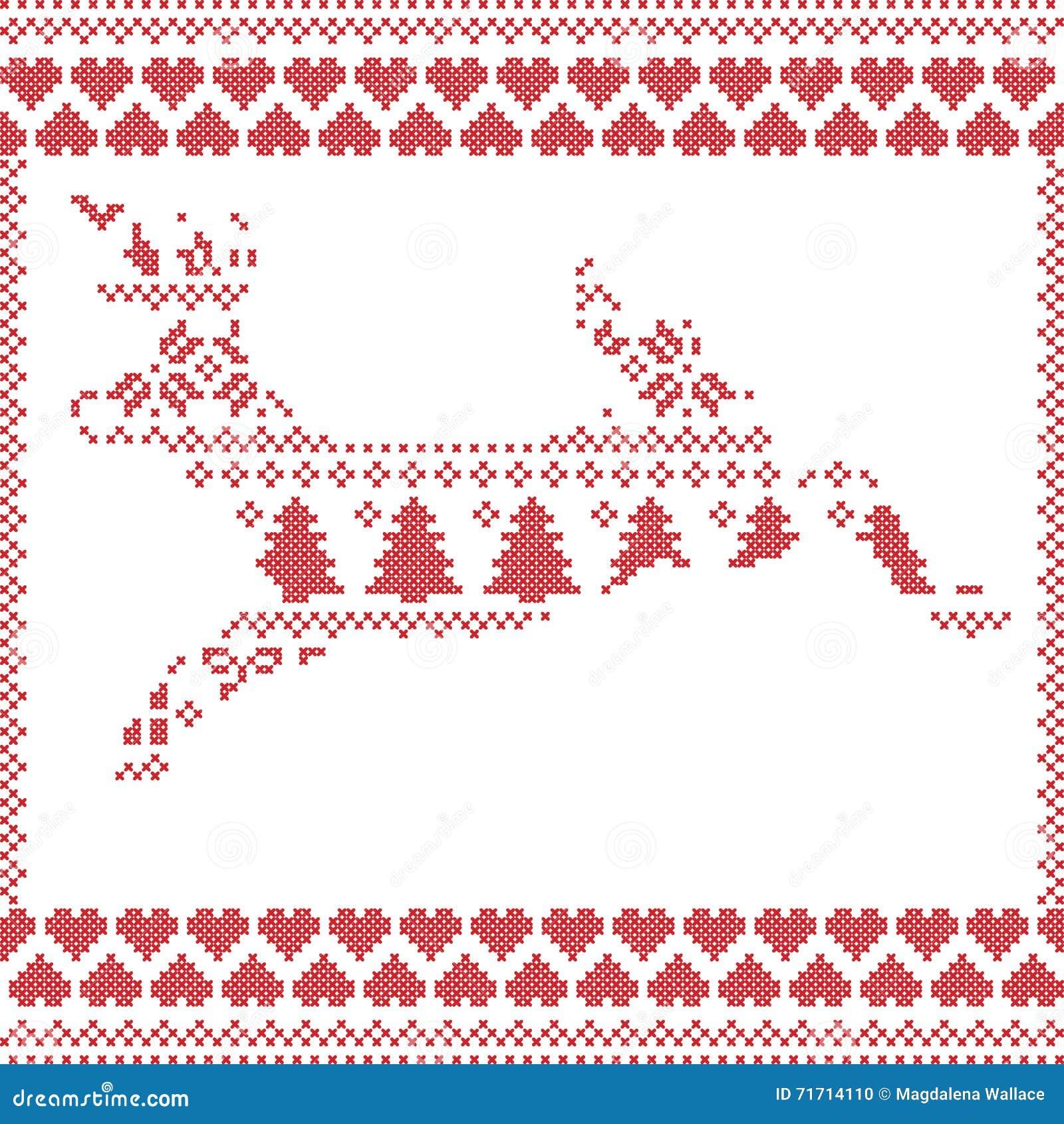El Modelo De Costura De La Navidad Del Invierno Noruego Escandinavo ...