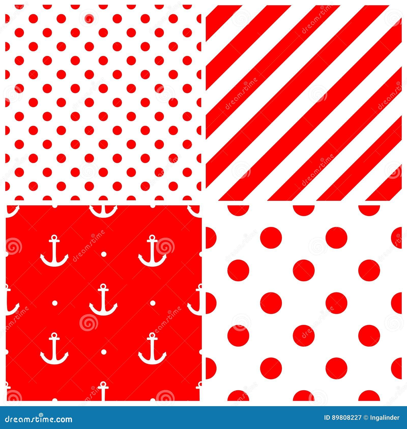 El modelo del vector del marinero de la teja fij con el for Papel pintado rojo y blanco