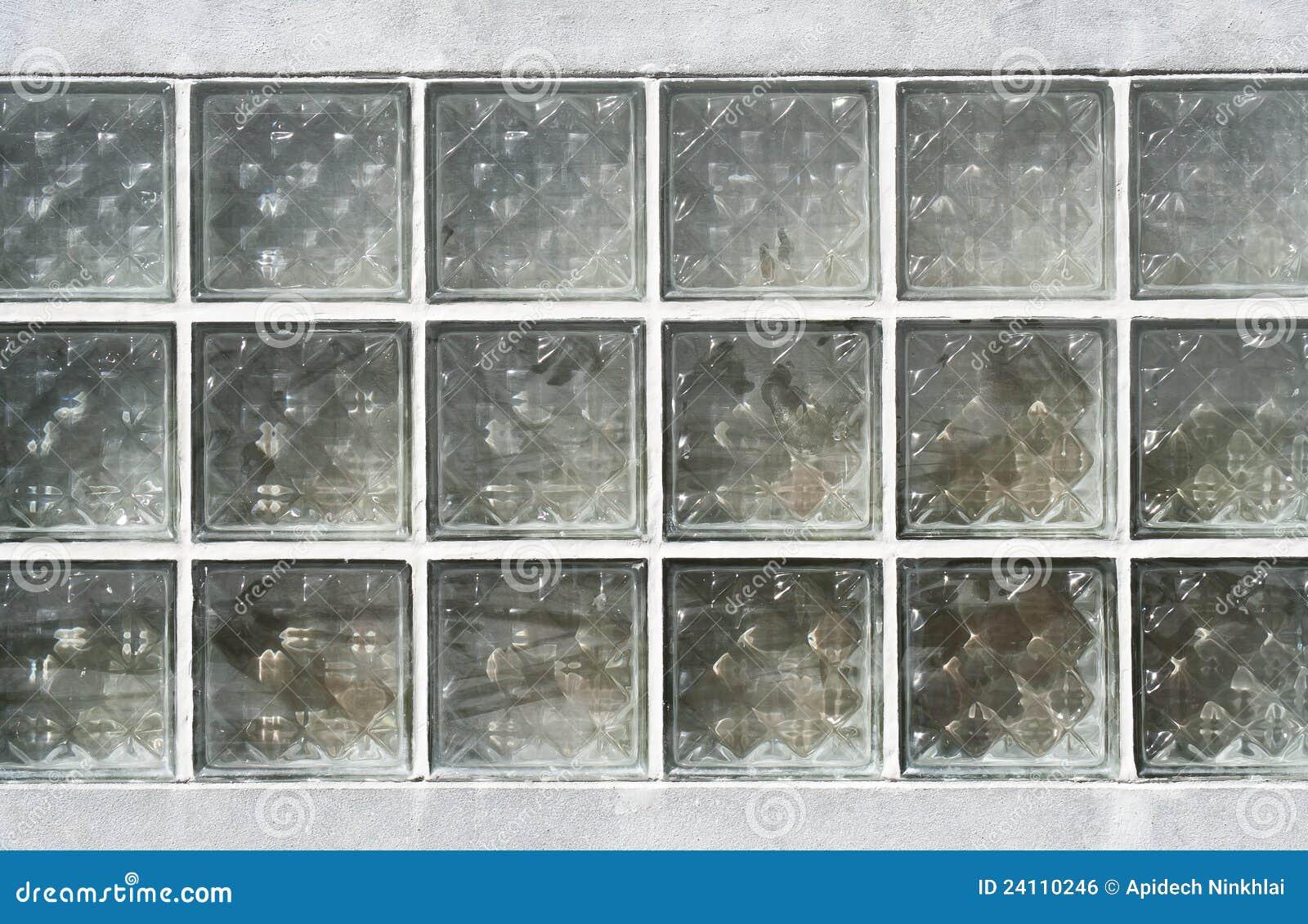 El modelo del vidrio del bloque en la pared imagen de - Pared de vidrio ...