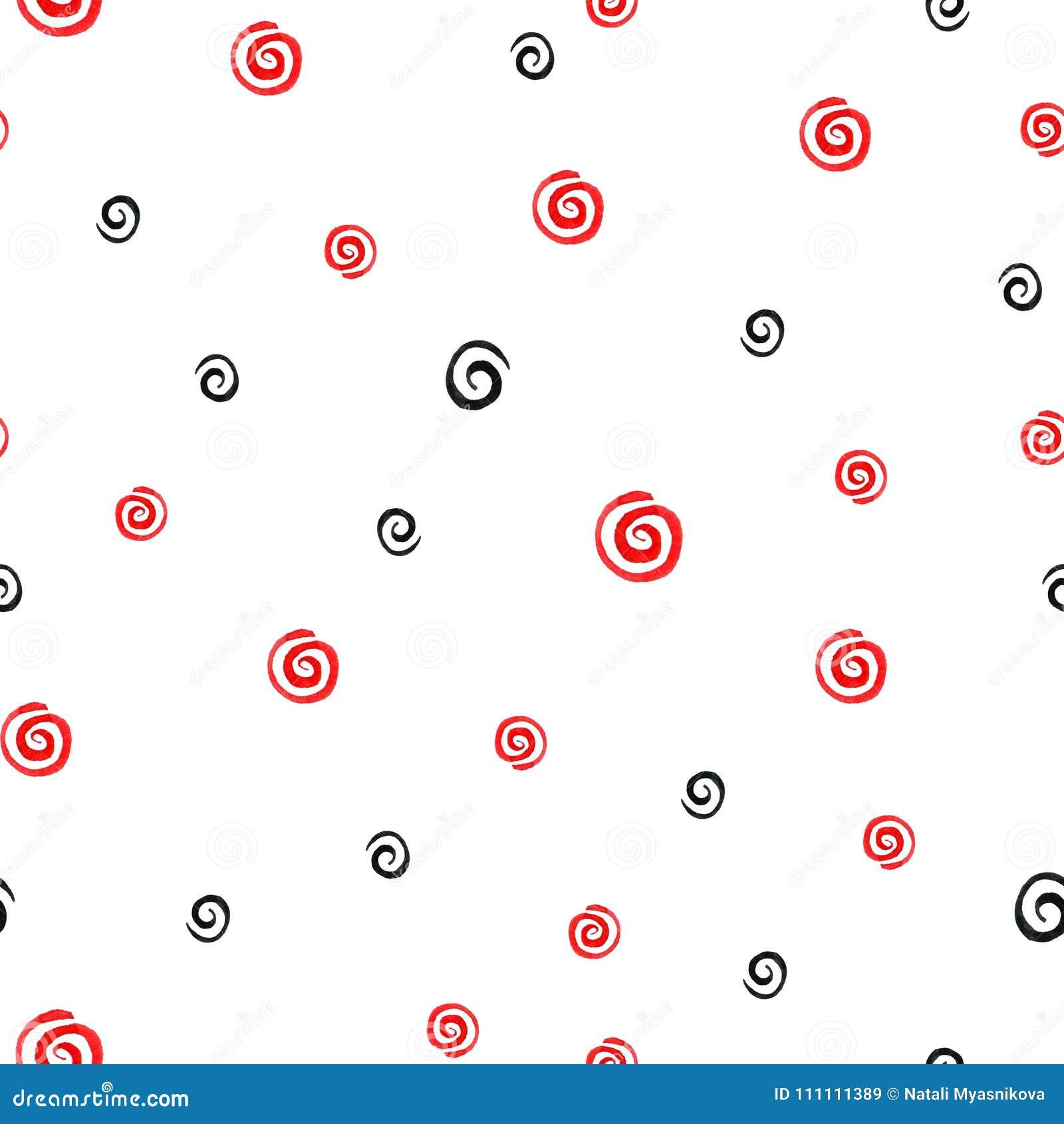 El modelo inconsútil abstracto con los movimientos del cepillo que remolinan en brillante y poner en contraste colorea rojo, blan