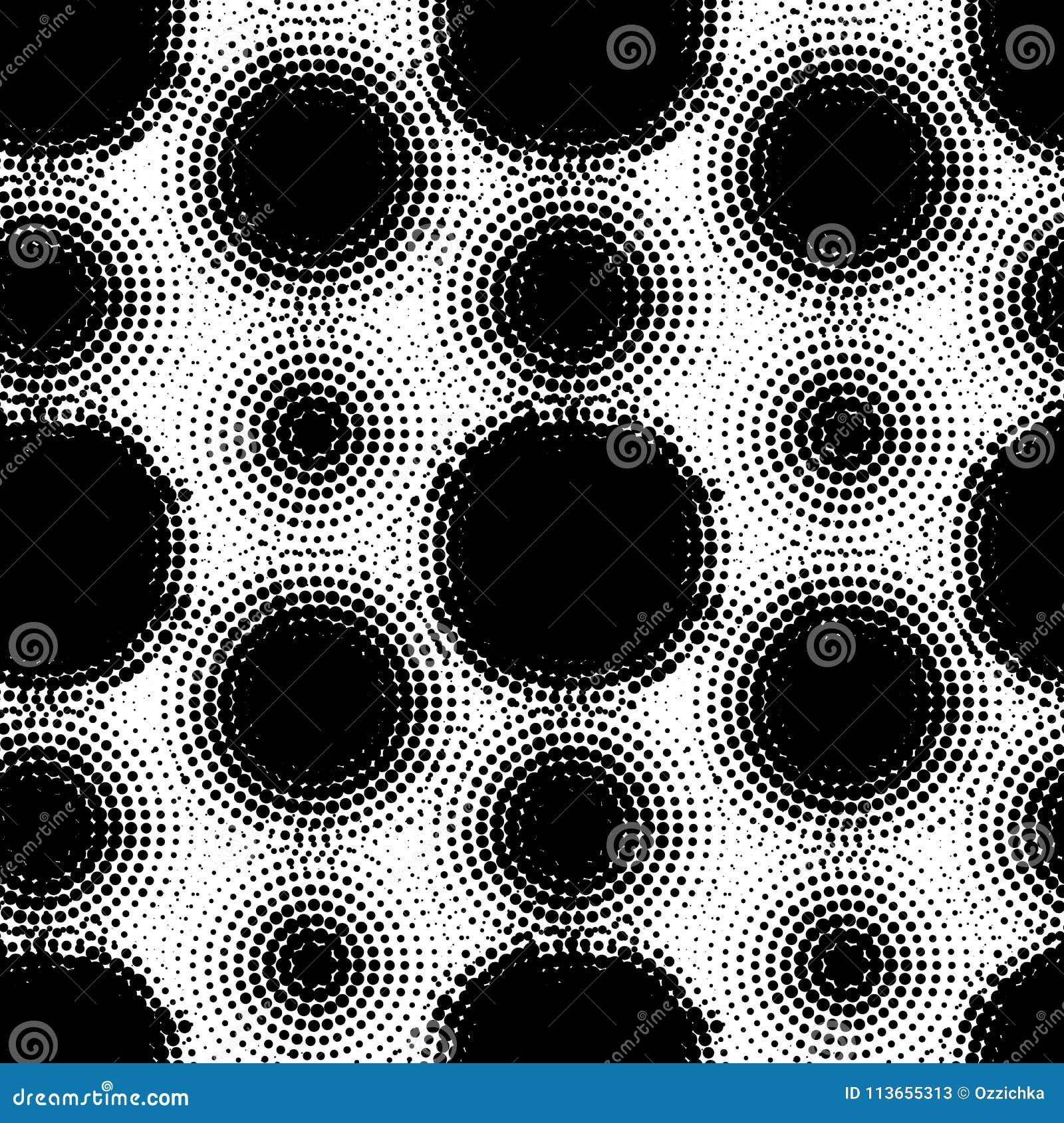 El modelo inconsútil con el tono medio puntea formas del círculo del vector Extracto punteado punteando el fondo repetible de las