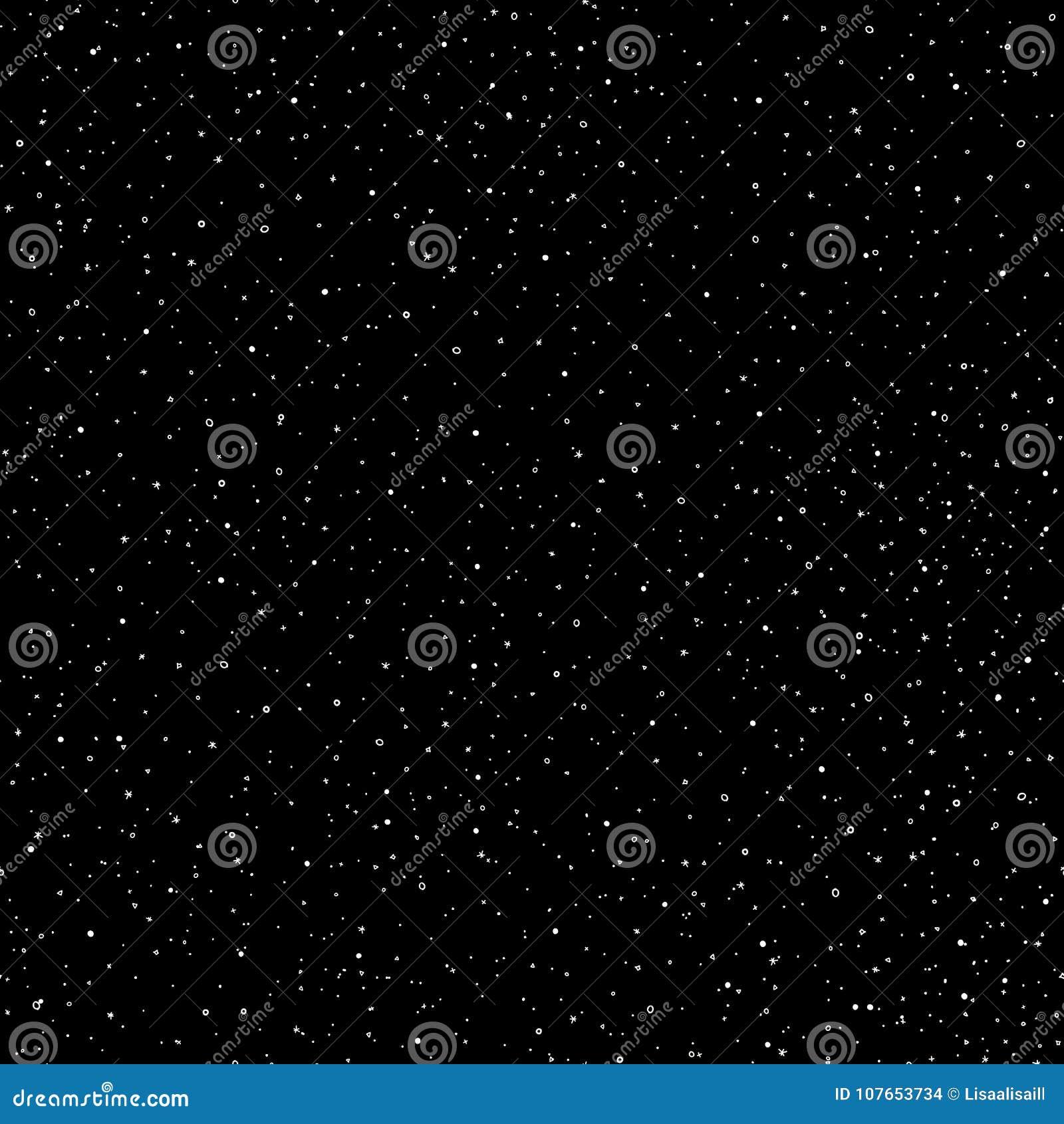 El modelo inconsútil del cielo del drenaje estrellado de la mano, garabato suena y cruza en galaxia y protagoniza el estilo - fon