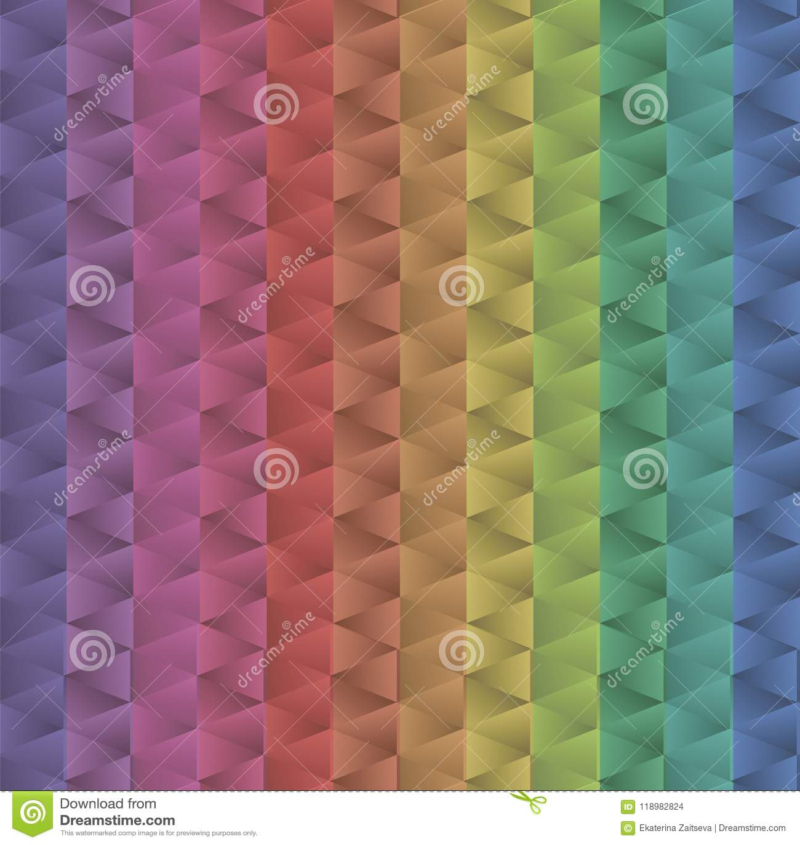 El modelo positivo del triángulo de los mecánicos del metal brillante multicolor iridiscente de la pendiente colorea el mar geomé