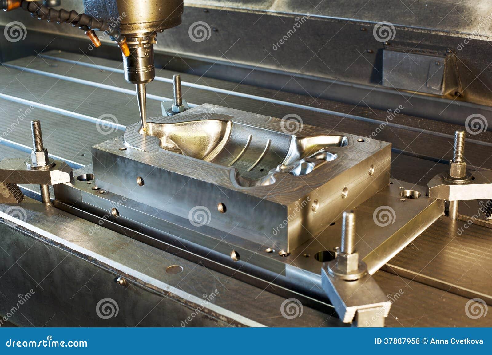 El moler industrial del molde de metal
