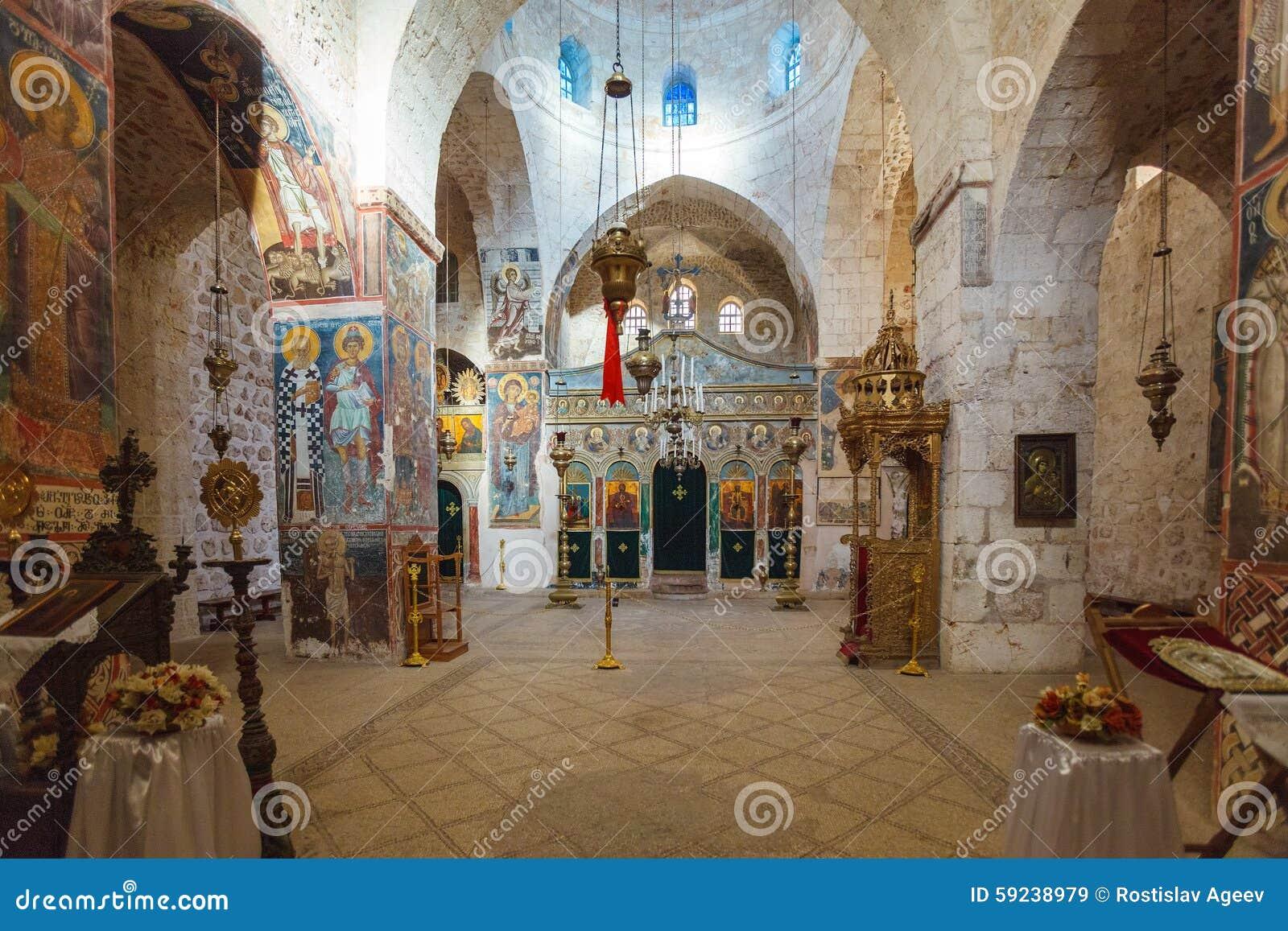 Download El Monasterio Del Interior Cruzado, Jerusalén Imagen de archivo - Imagen de jerusalén, templo: 59238979