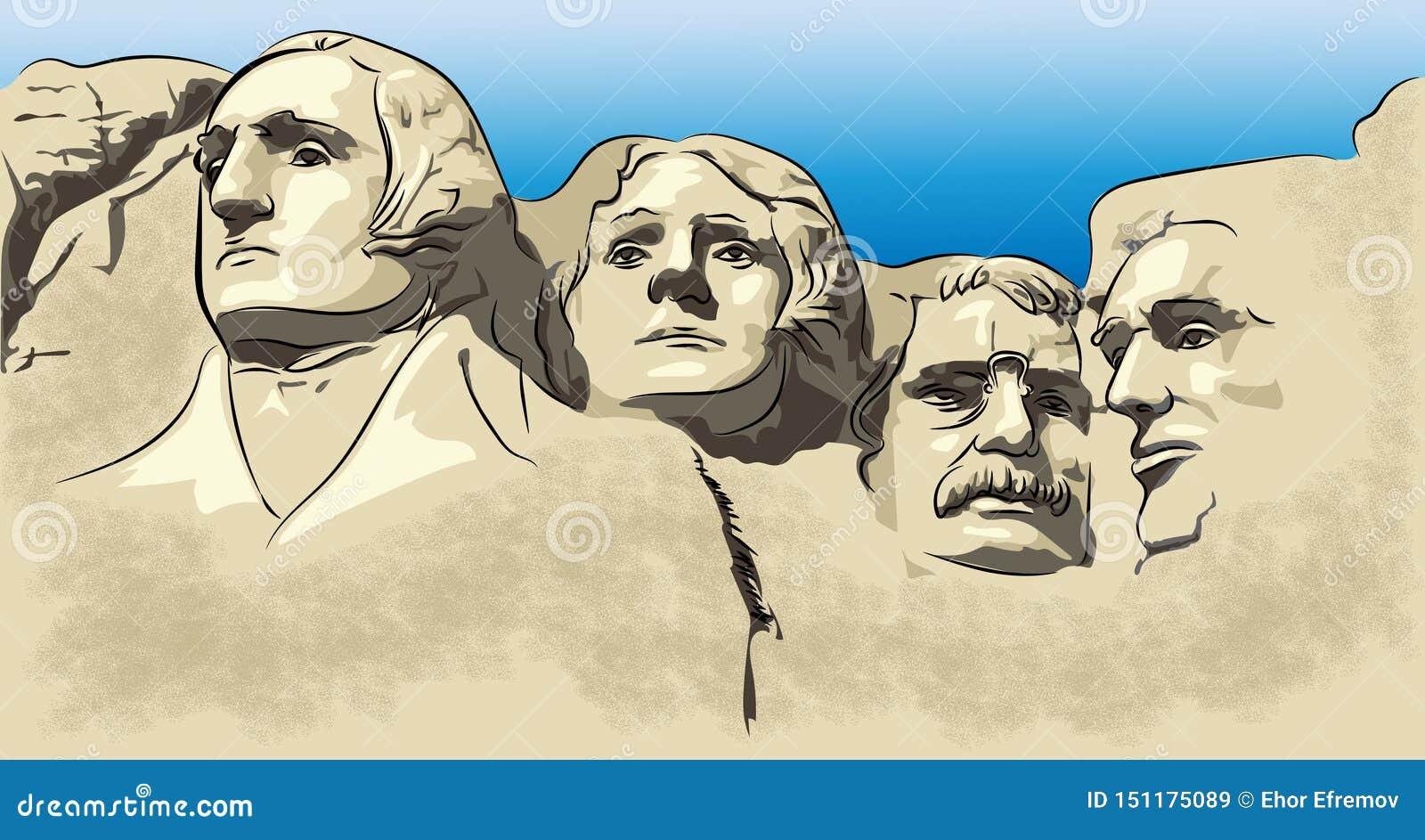 El monte Rushmore, museo de la montaña, atracción de la montaña