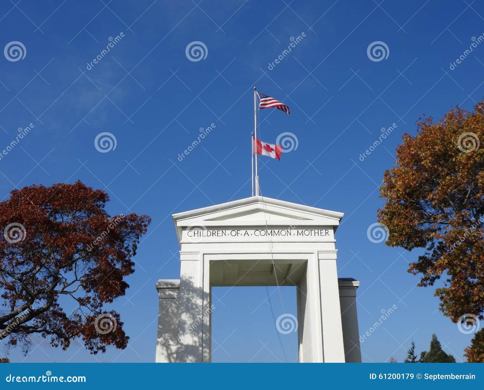 El monumento del arco de la paz