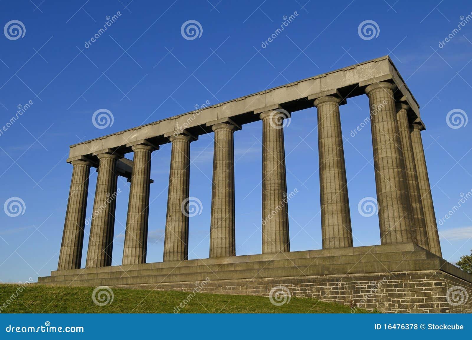 El monumento nacional, colina de Carlton, Edimburgo