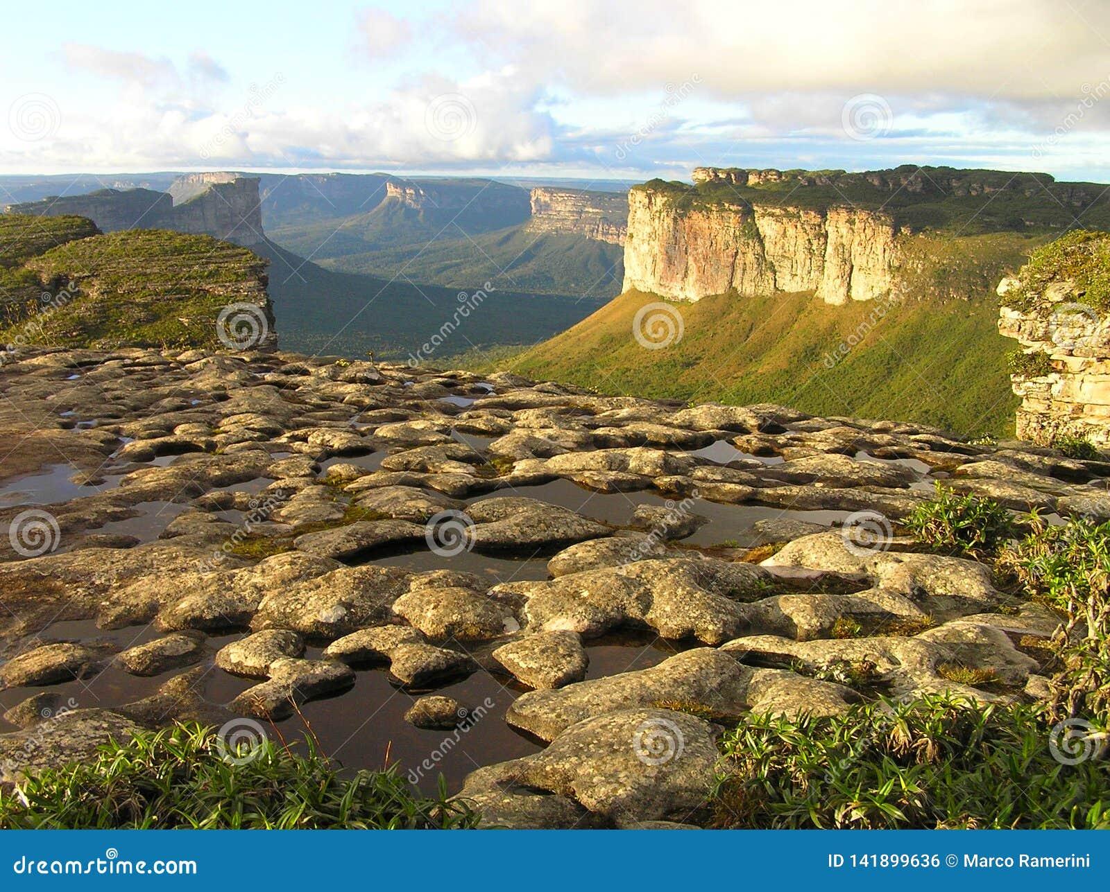 El Morro hace a Pai Inacio en el Chapada Diamantina, Bahía, el Brasil