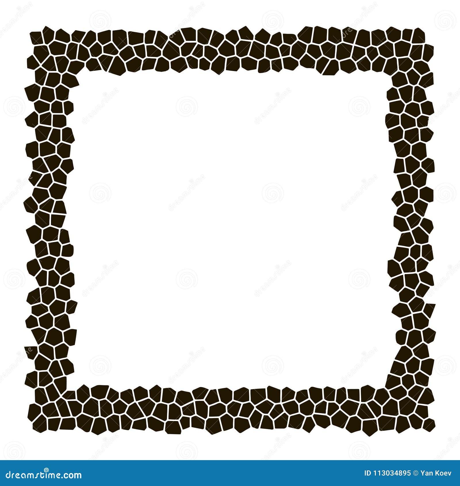 El mosaico oscila el fondo cuadrado del marco de la silueta
