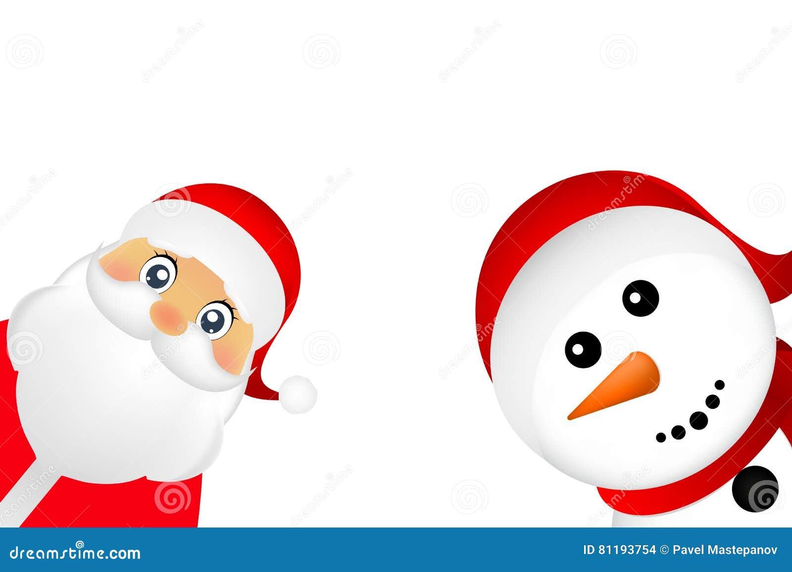 El Muñeco De Nieve De Santa Claus Y De La Navidad En Un