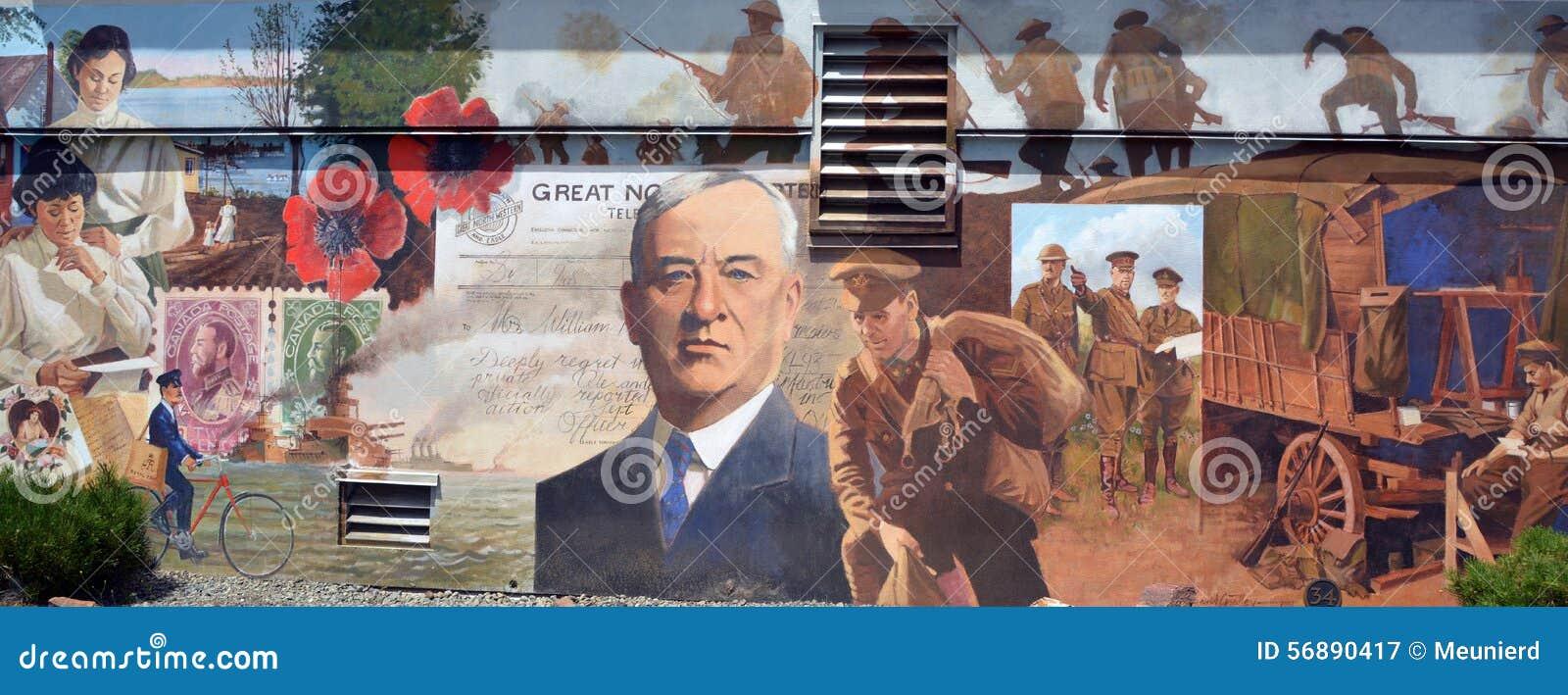 El mural cuenta la historia de Chemainus