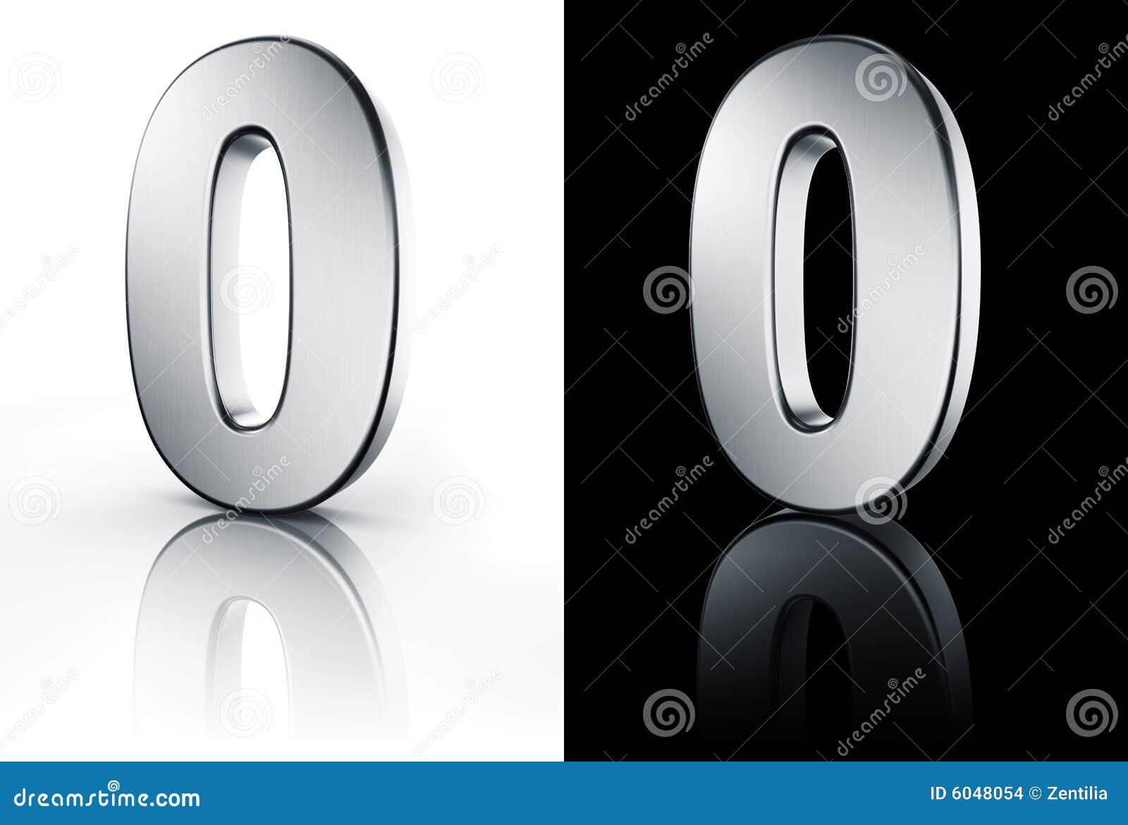 El n mero 0 en el suelo blanco y negro stock de for Suelo 3d blanco
