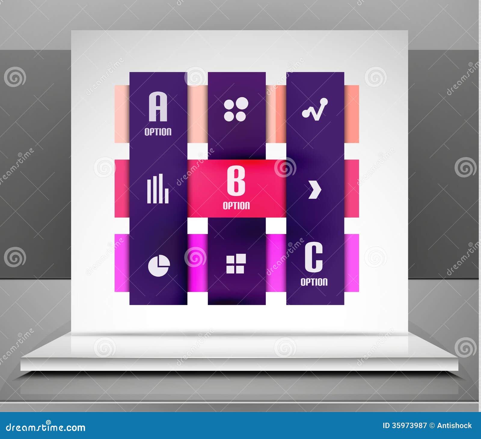 El negocio moderno del vector raya diseño infographic