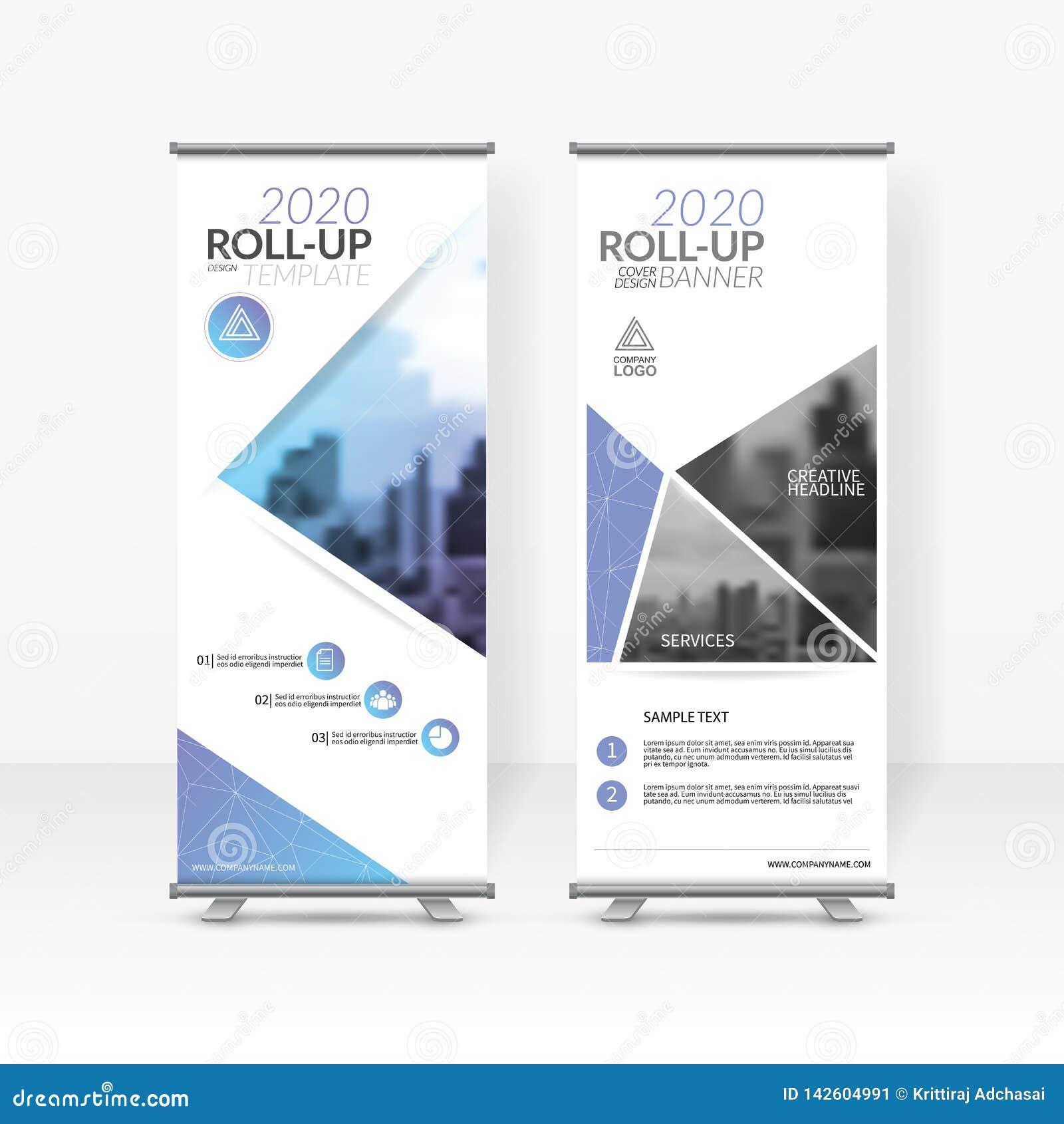 El negocio rueda para arriba la plantilla del diseño, X-soporte, disposición de diseño vertical de la bandera-bandera, el promove
