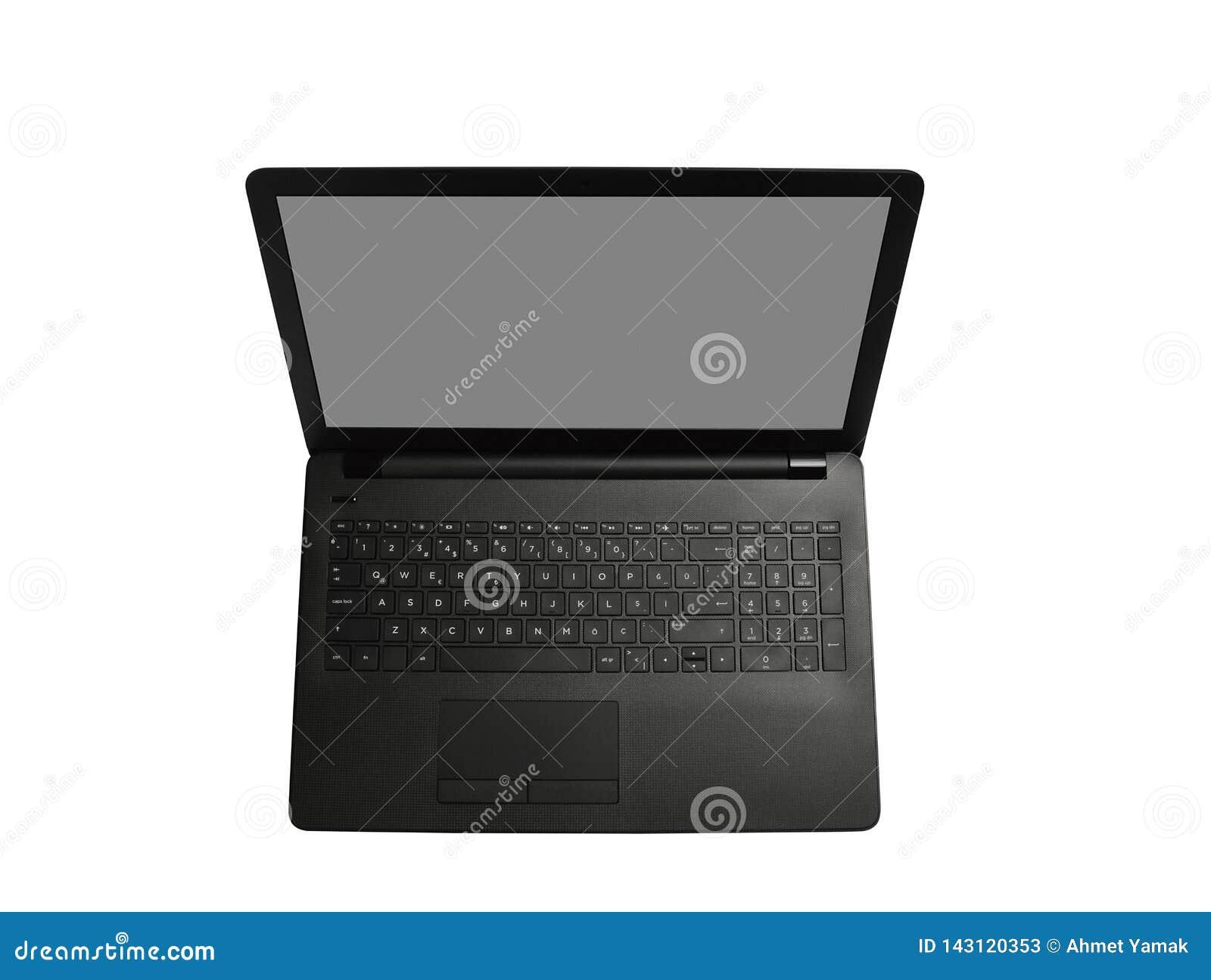 El ordenador port?til y la pantalla tienen en blanco
