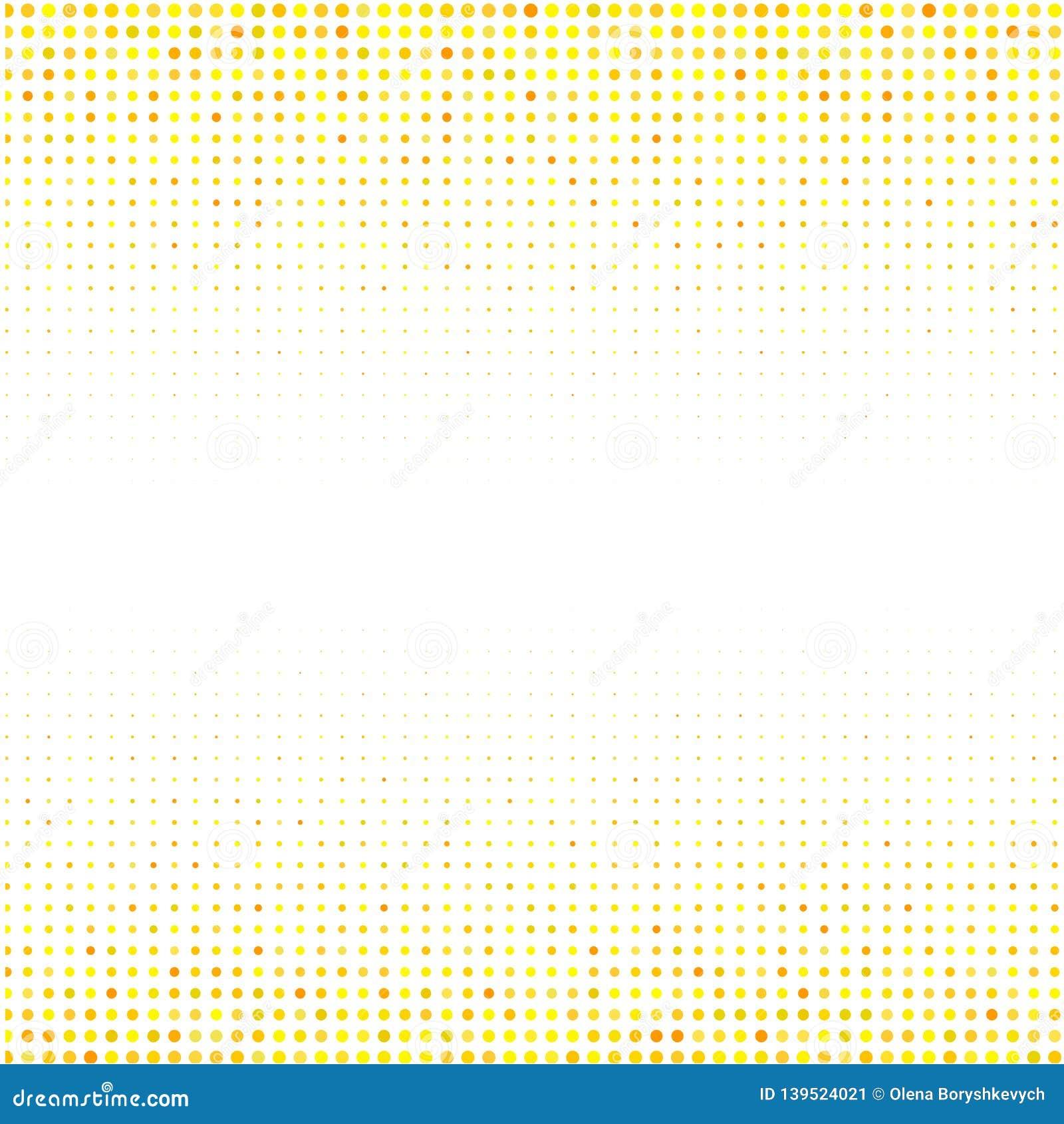 El ornamento geométrico de puntos amarillos en el fondo blanco