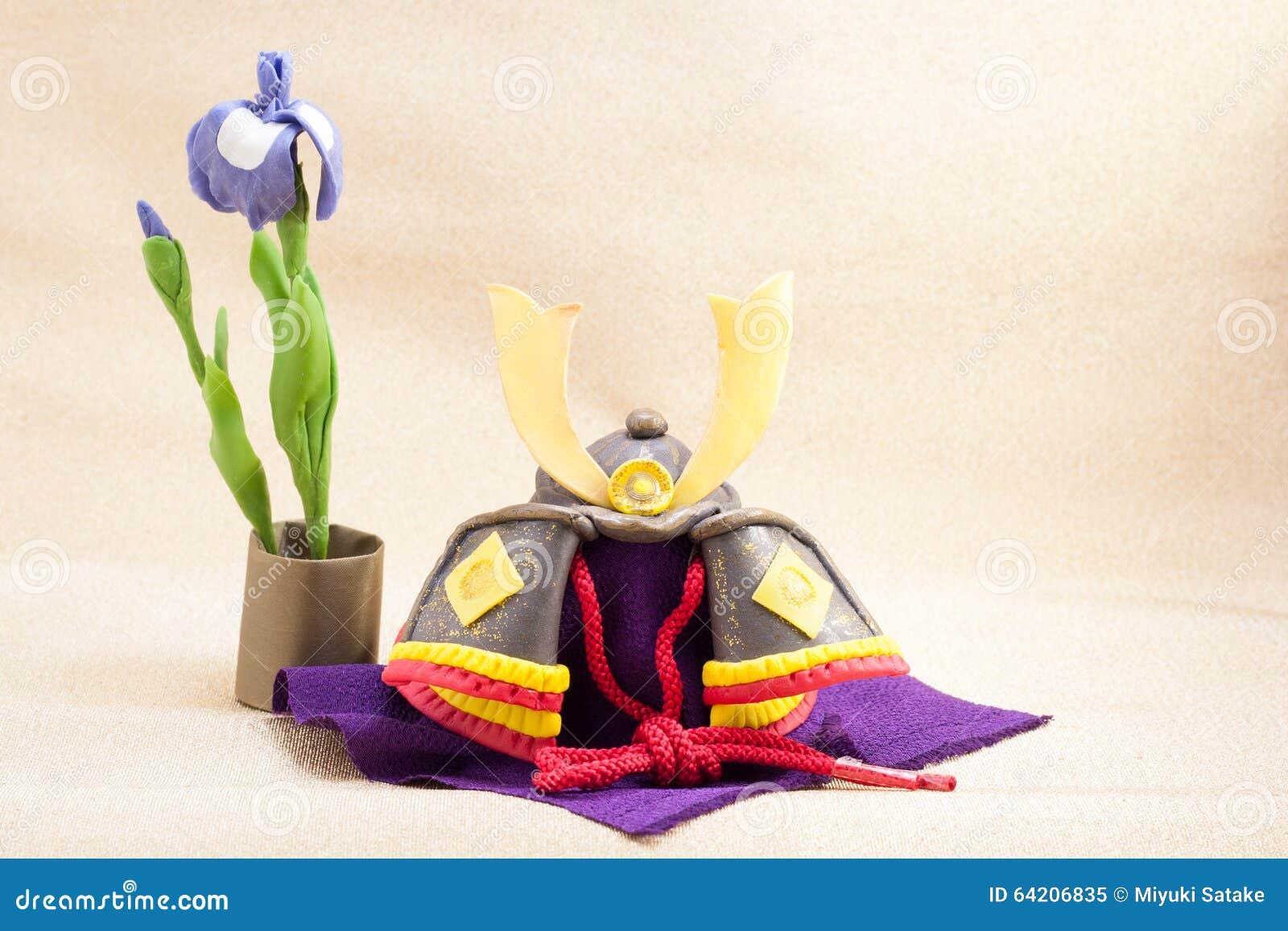 El ornamento japonés del día de fiesta para el día de los muchachos llamó Kodomo ningún hola