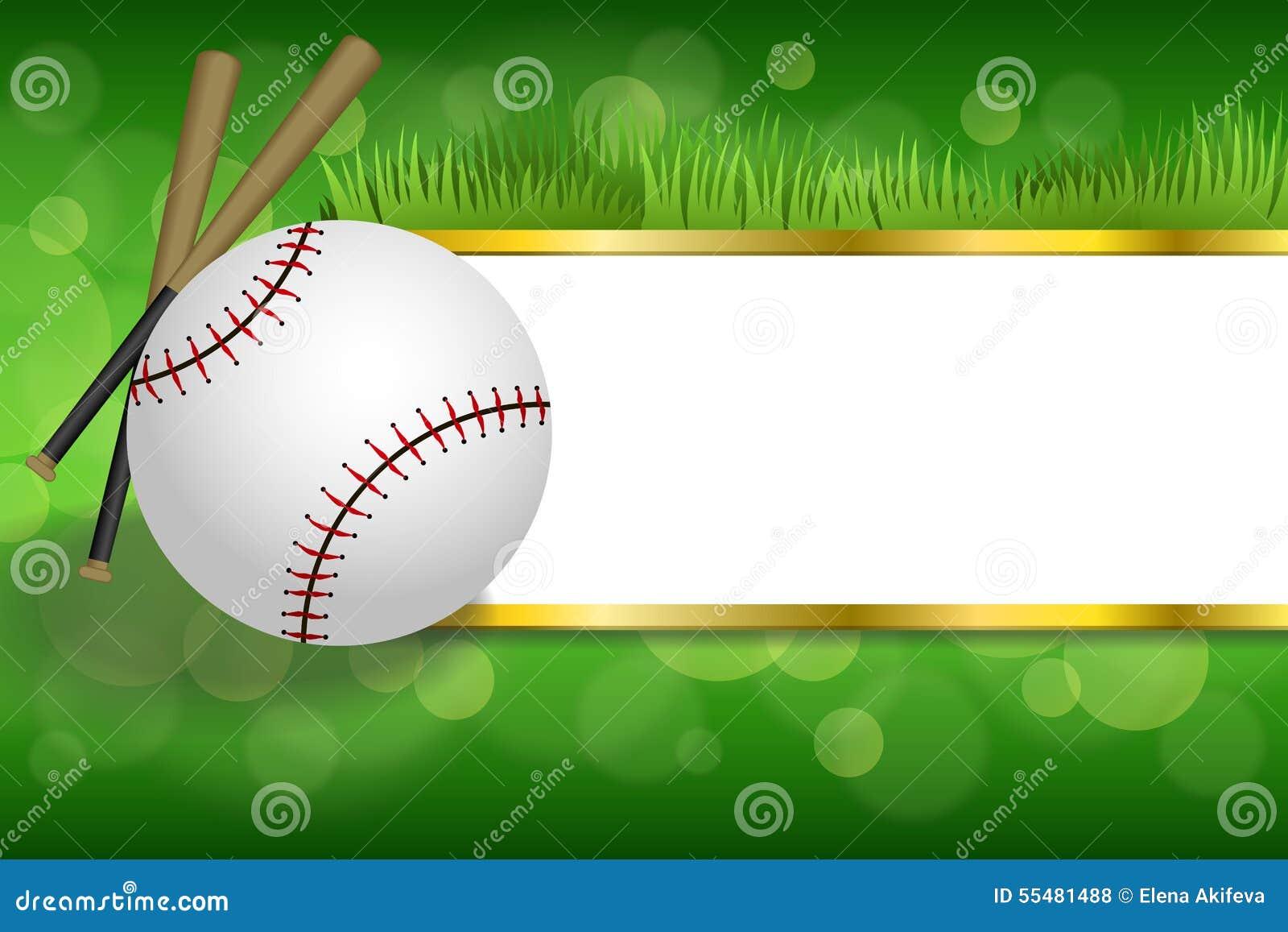 El oro blanco del club de la bola del béisbol del deporte verde abstracto del fondo pela el ejemplo del marco
