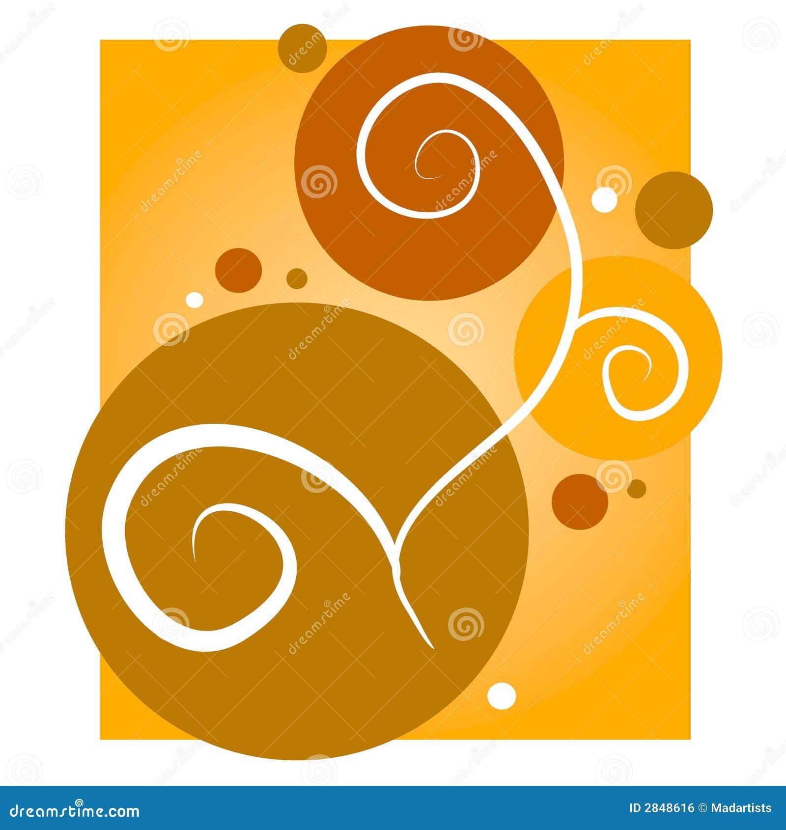 El oro remolina fondo de los círculos
