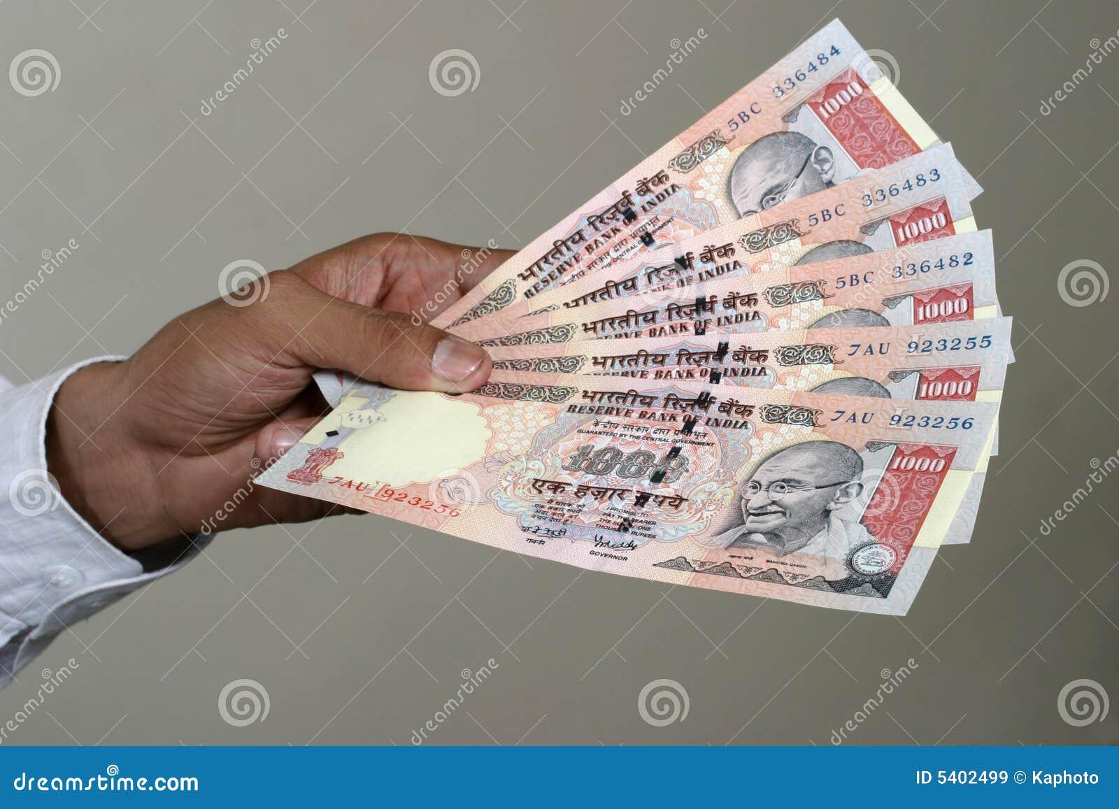 El pagar en rupia india