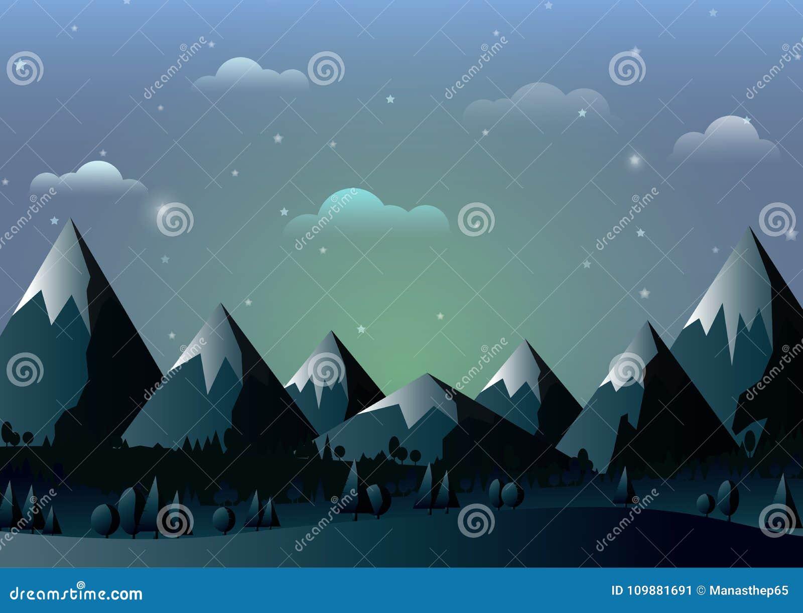 El Paisaje De La Naturaleza Con Las Montañas Y El Cielo Azul Resumen ...