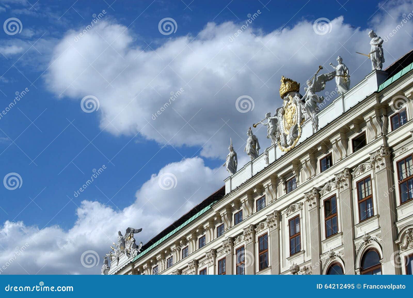 El palacio de la corte real de Viena en Austria