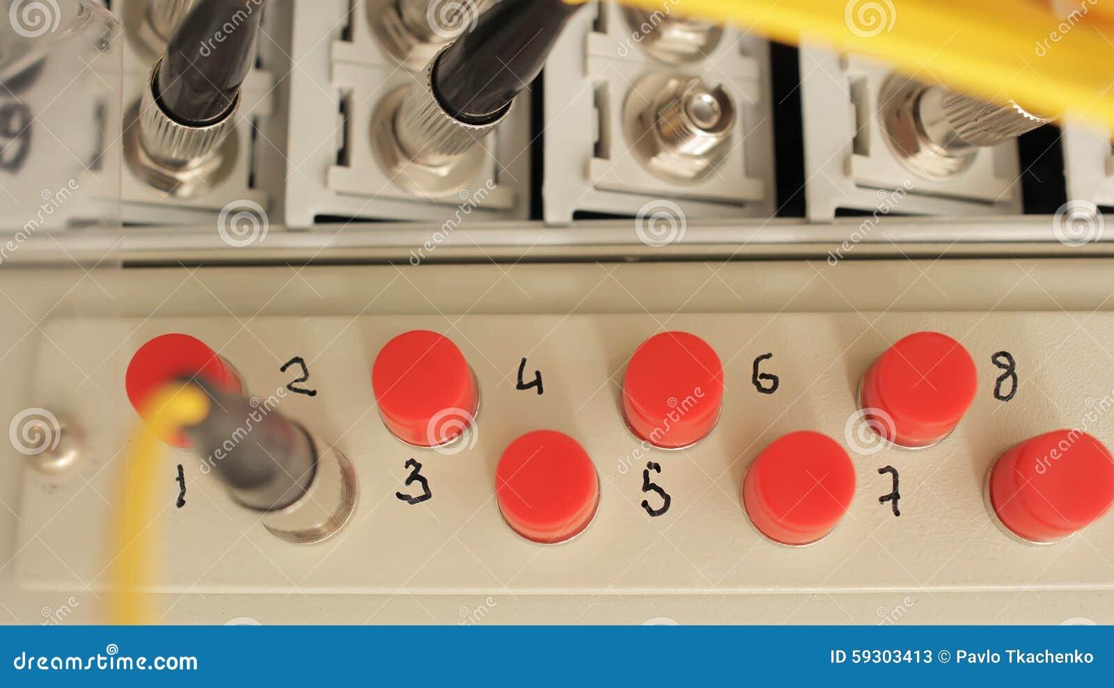 El panel de corrección de fibra óptica