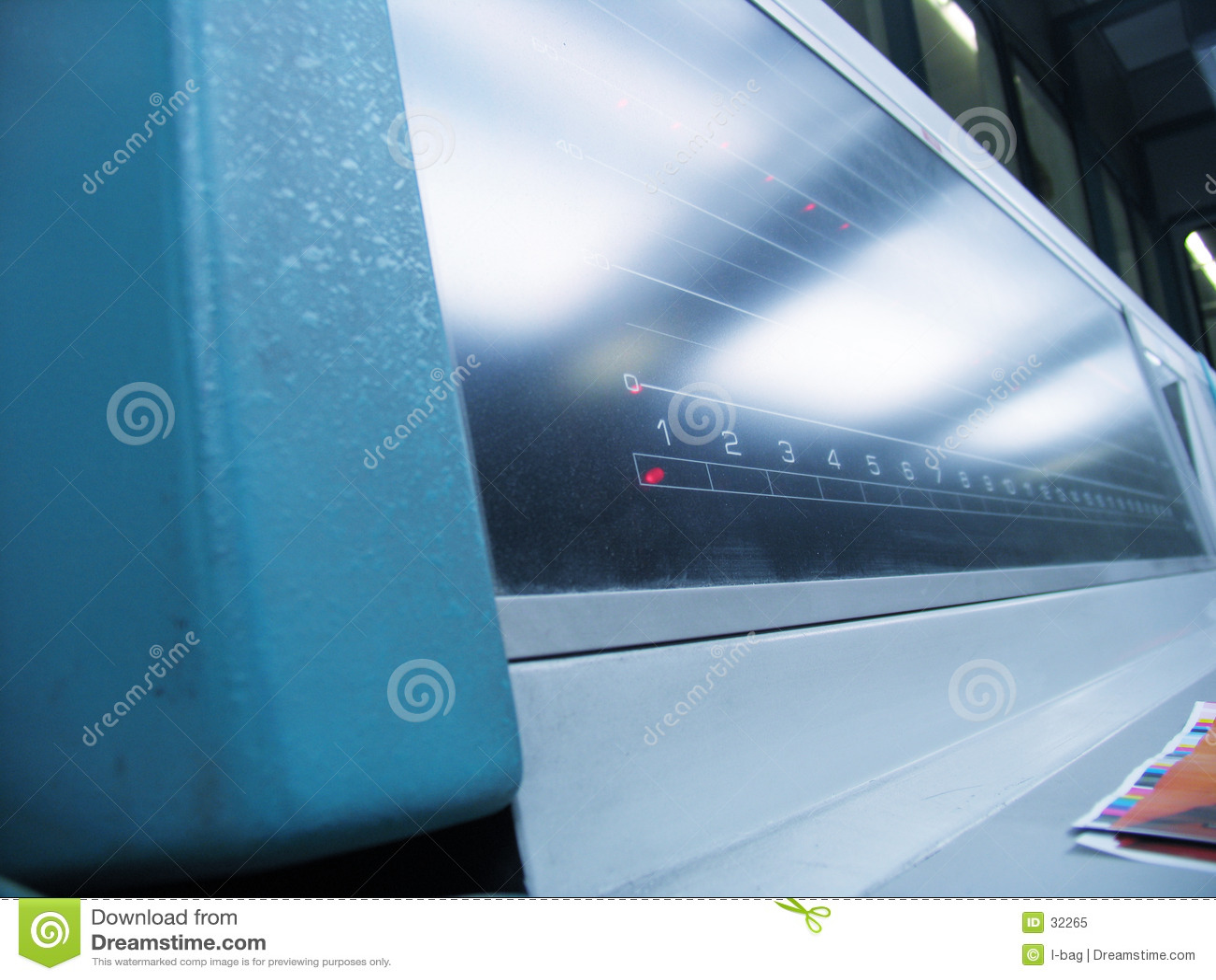 El panel de la impresora