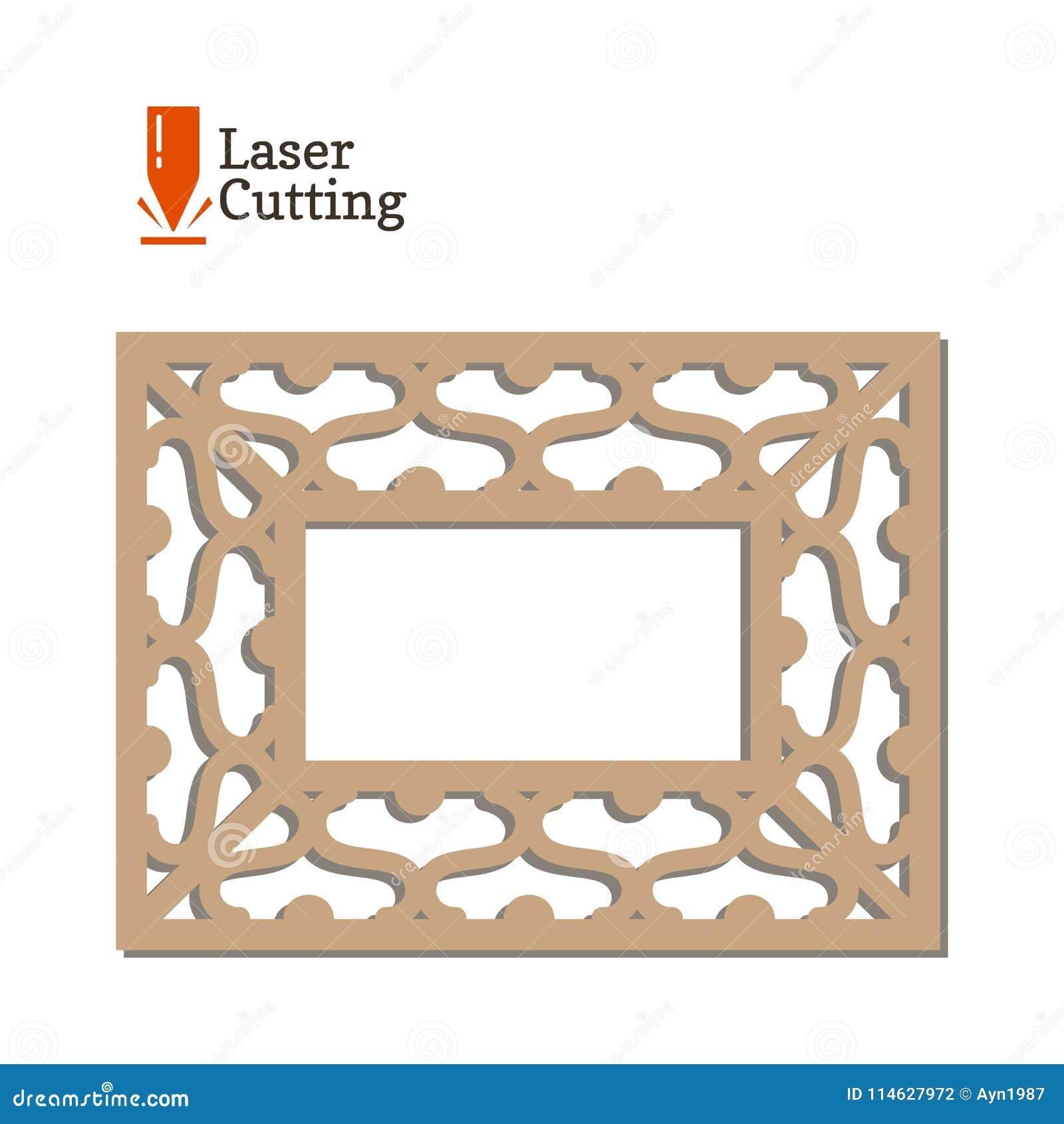 El Panel Del Corte Del Laser Vector La Plantilla Del Marco Para El ...