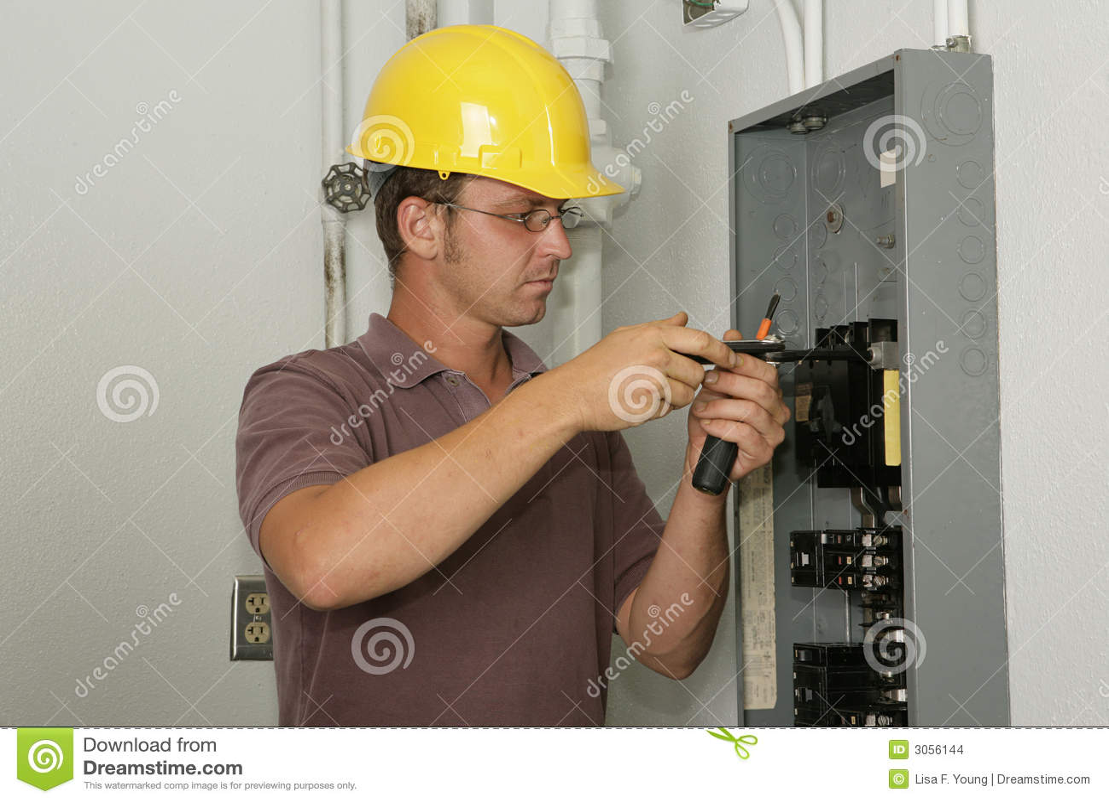 El panel industrial del electricista imagenes de archivo for Trabajo de electricista en malaga