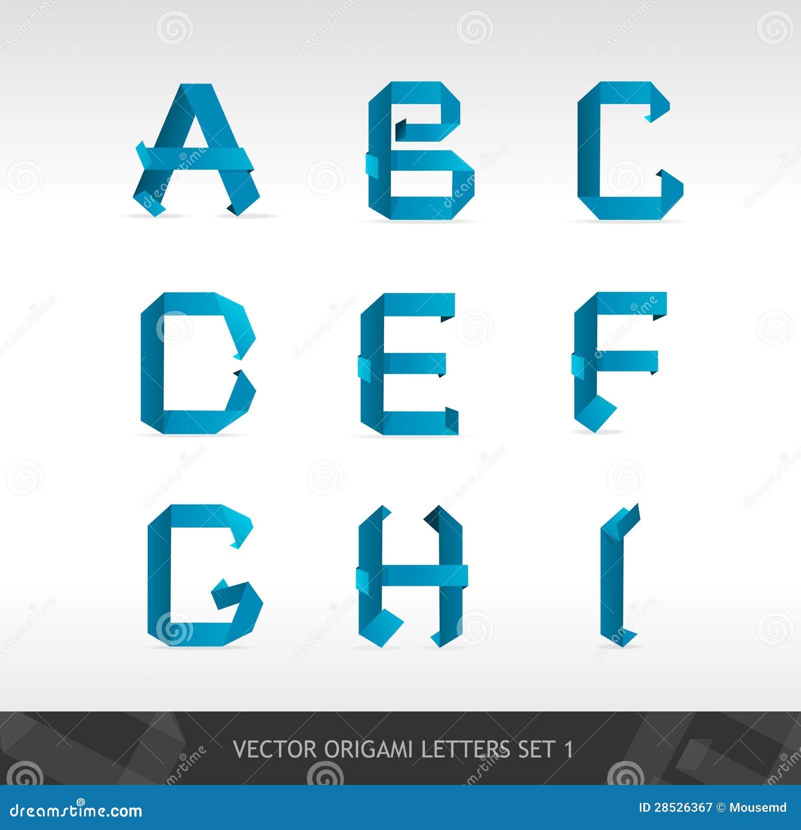 El papel pone letras a origami ilustracin del vector el papel pone letras a origami diseo alfabeto jeuxipadfo Choice Image