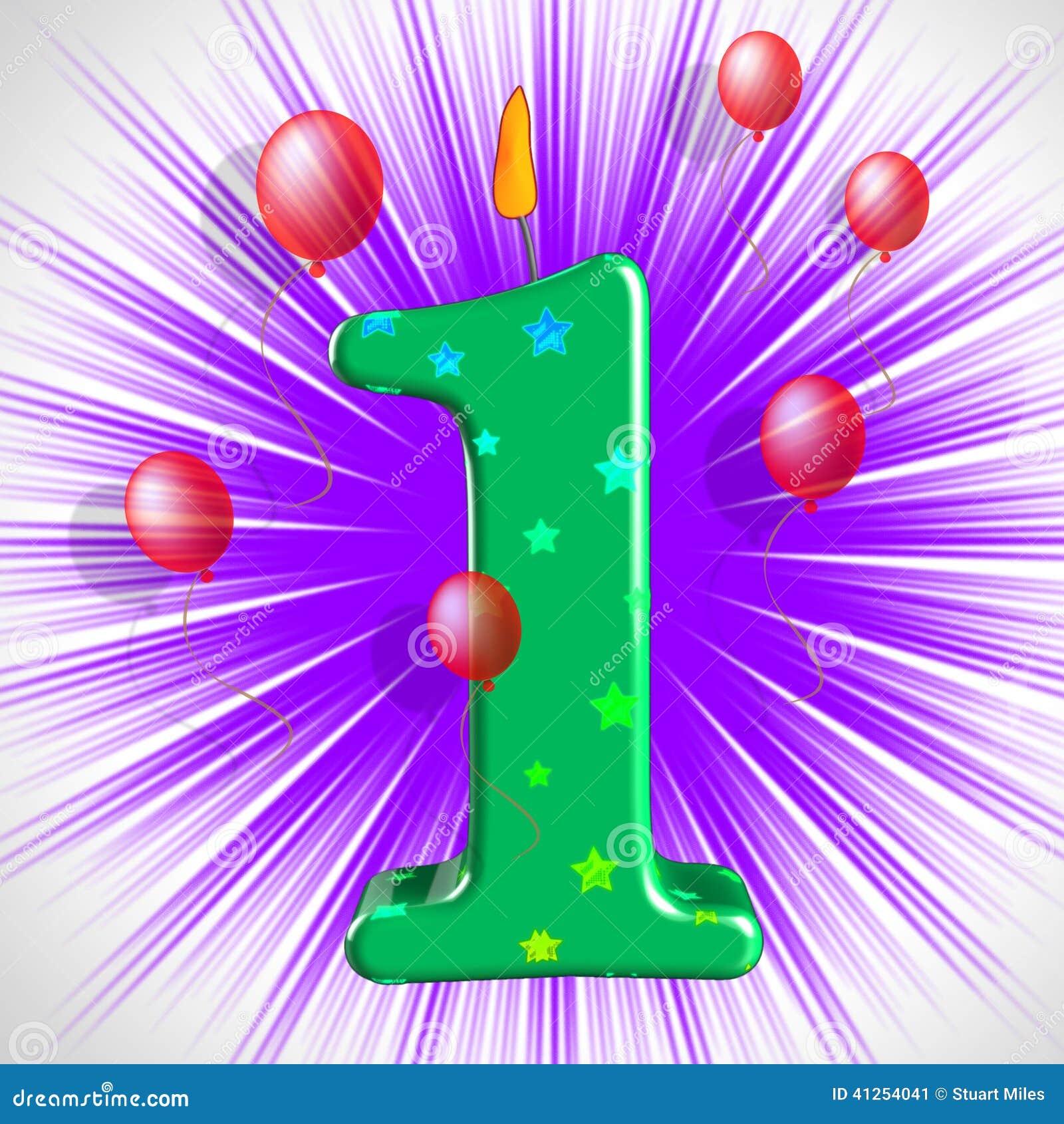 El Partido Del Número Uno Muestra Un Aniversario O Cumpleaños Del ...