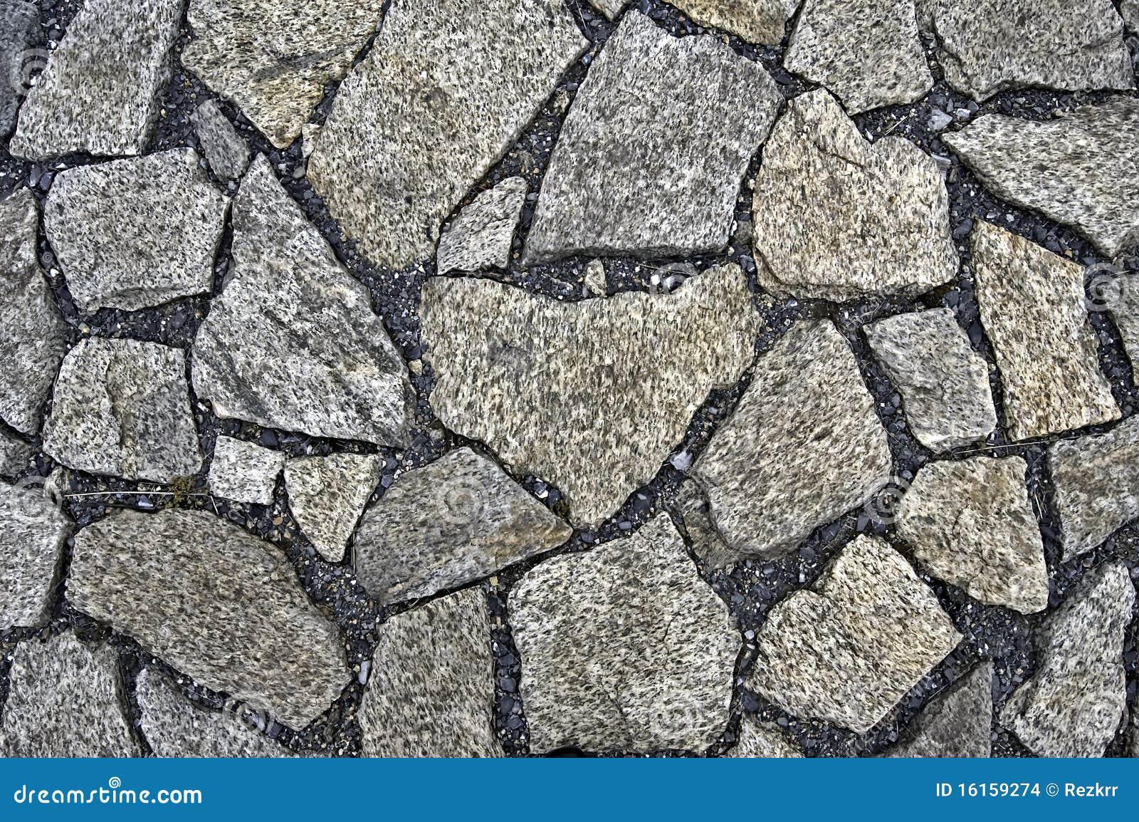 El pavimento de la piedra del granito foto de archivo for Granito en piedra