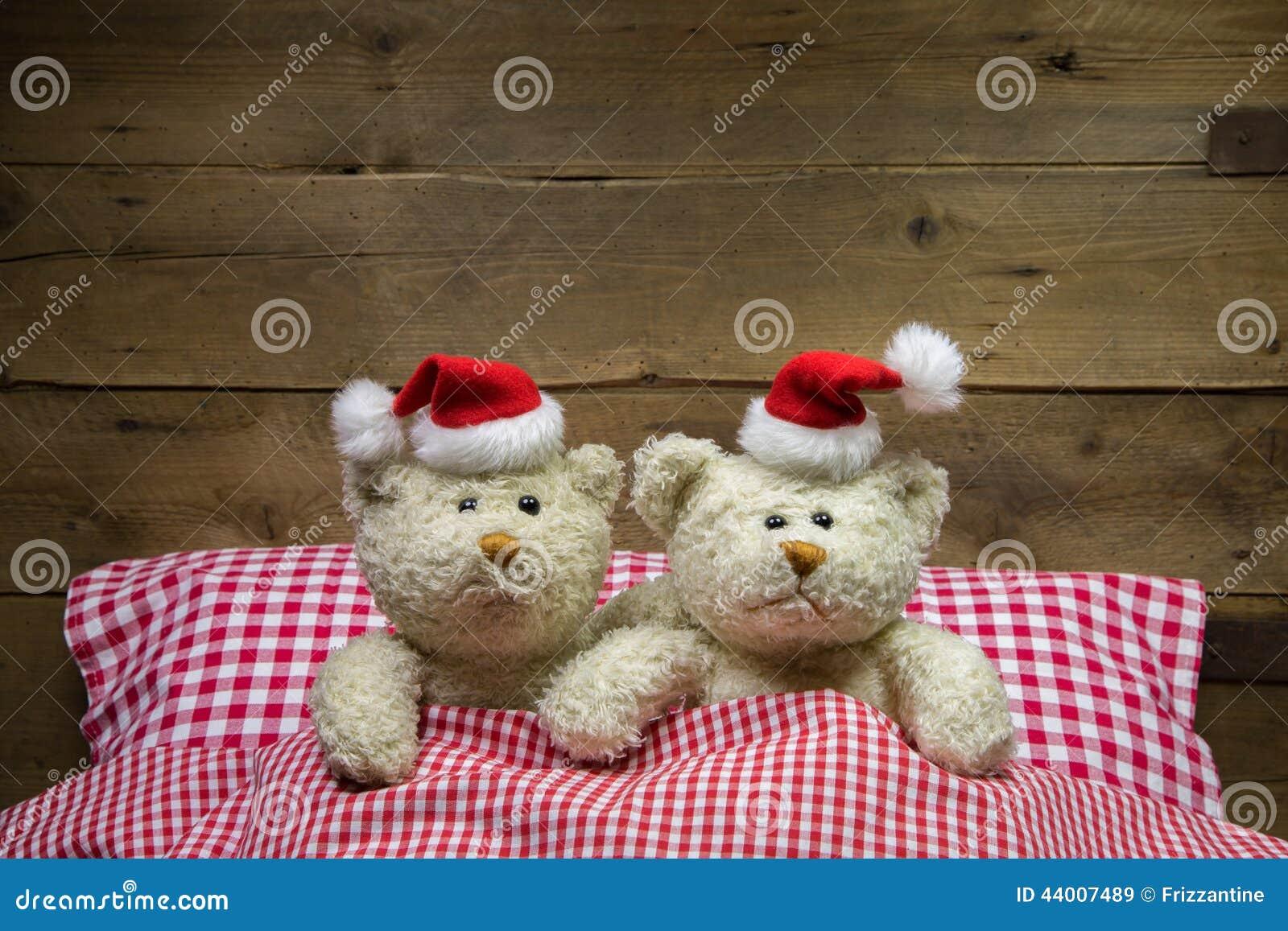 El peluche dos refiere Nochebuena: idea para una tarjeta de felicitación divertida