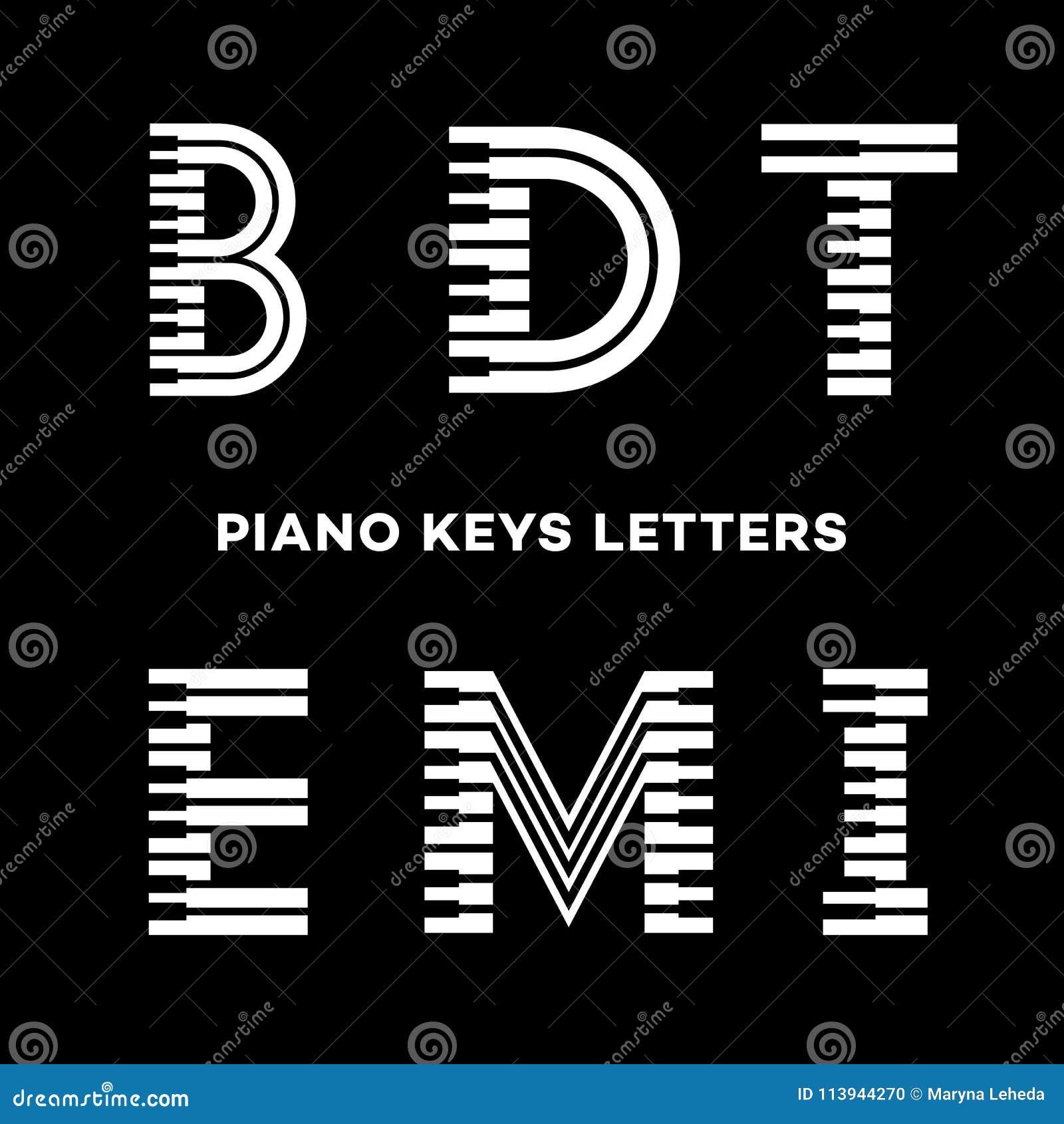 El piano cierra letras ilustración del vector. Ilustración de ...
