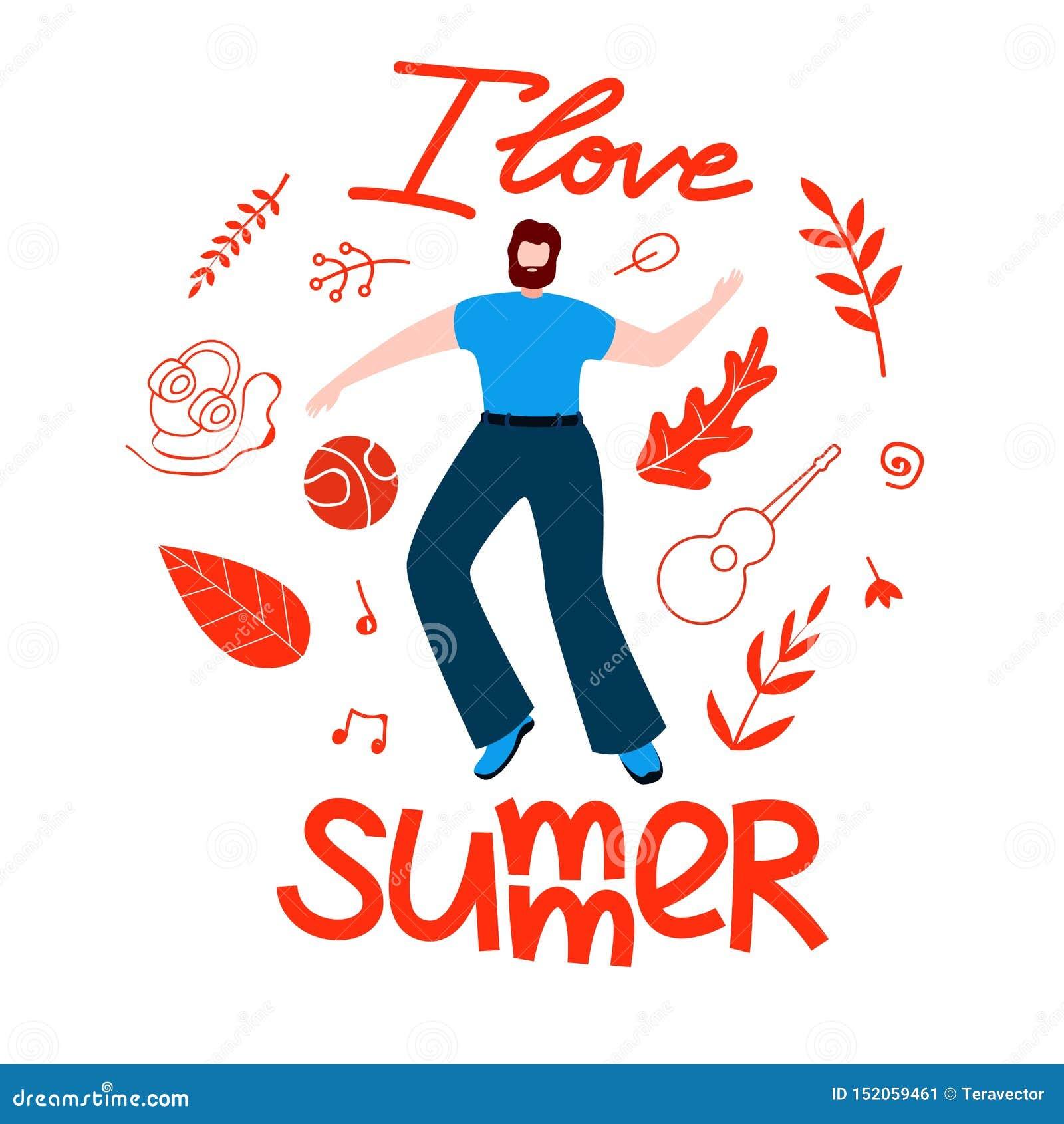 El plan masculino para el verano, amo el plano de la historieta del verano